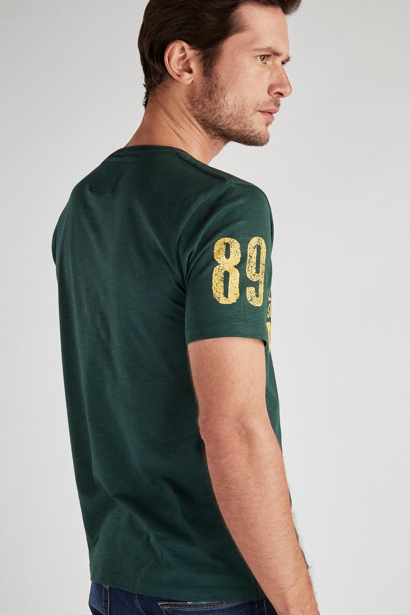 T-Shirt Dark Green Sport Man