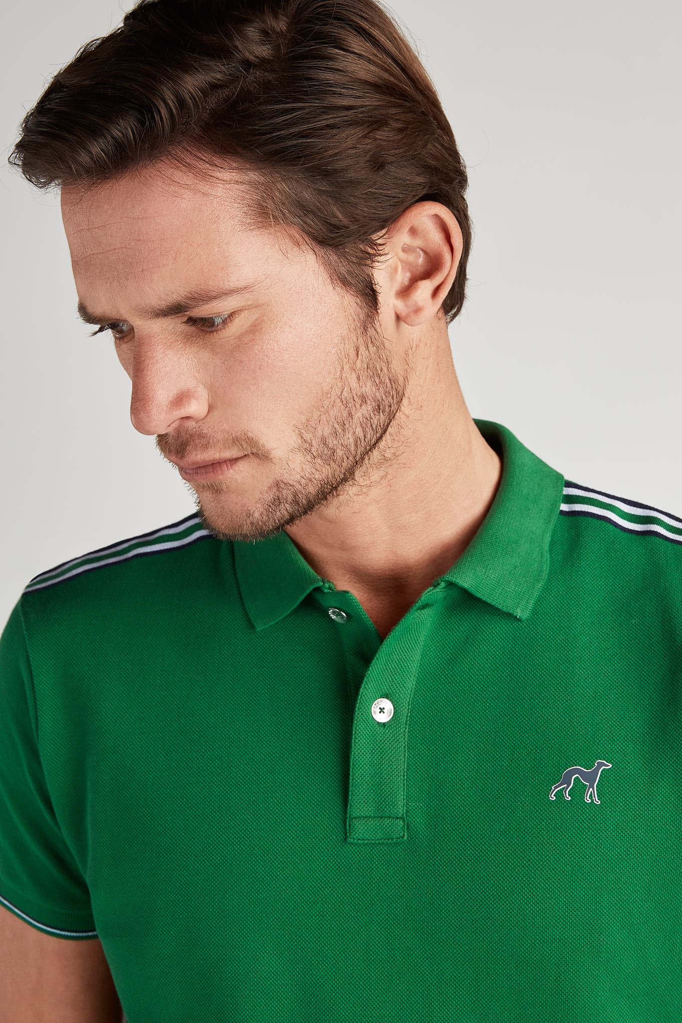 Polo Piquet Green Sport Man