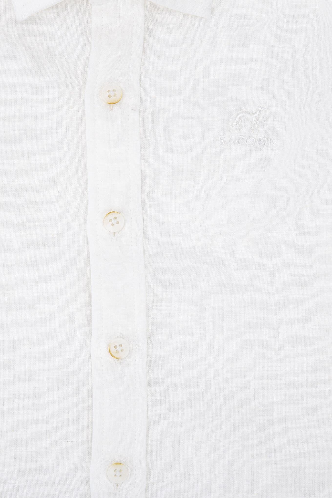 Camisa Branco Casual Rapaz