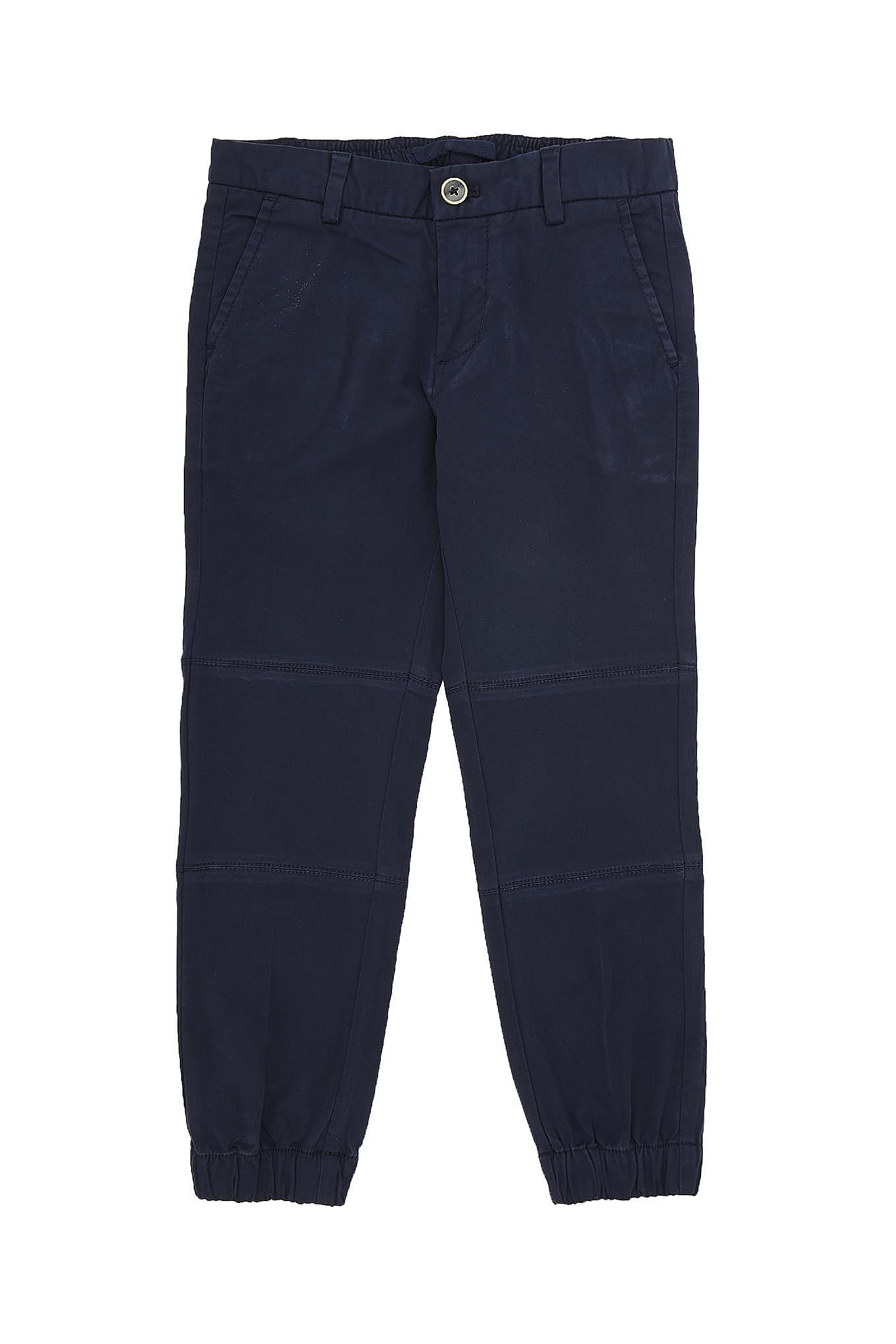 Calças Chino Azul Escuro Casual Rapaz