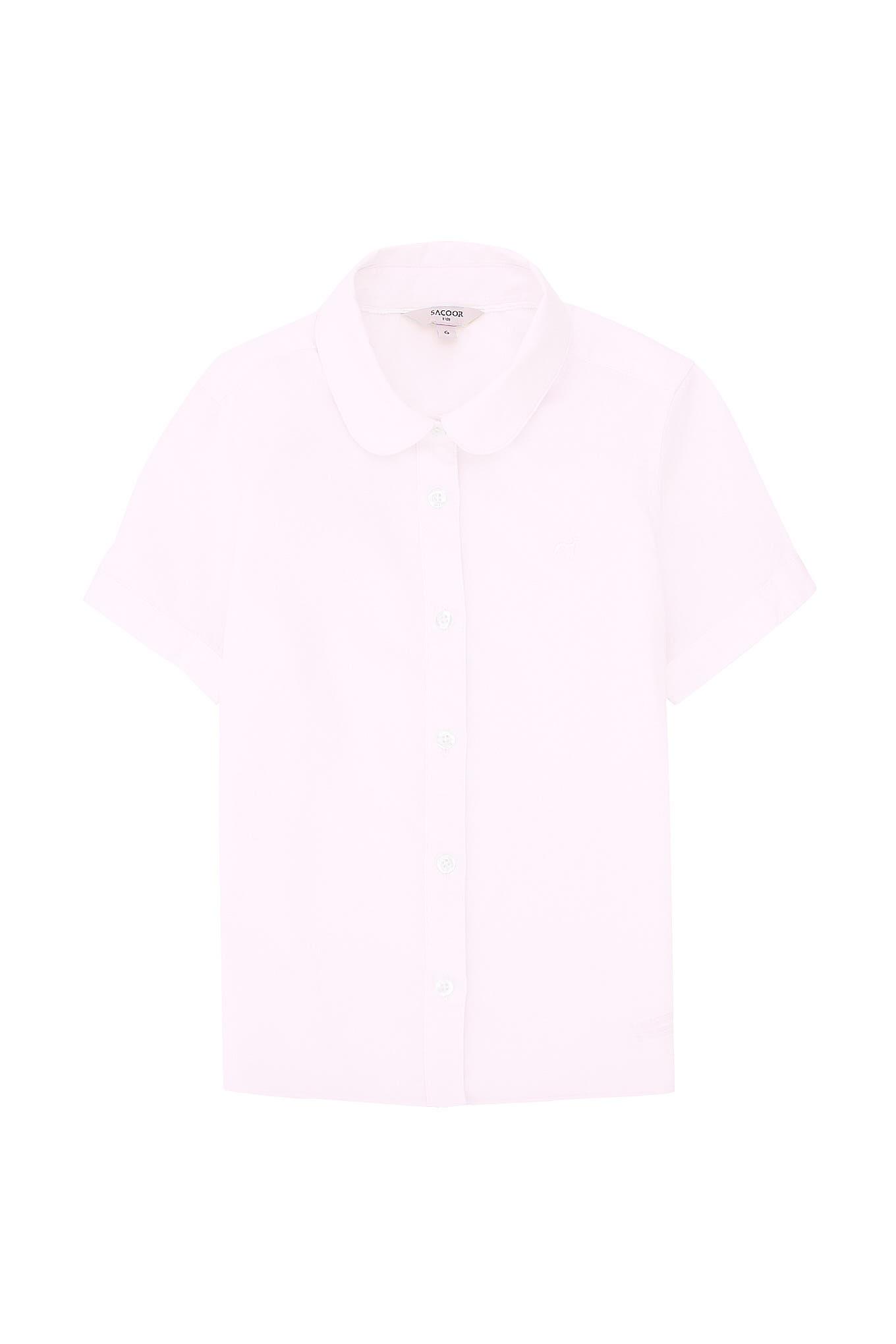 Camisa Rosa Claro Casual Rapariga
