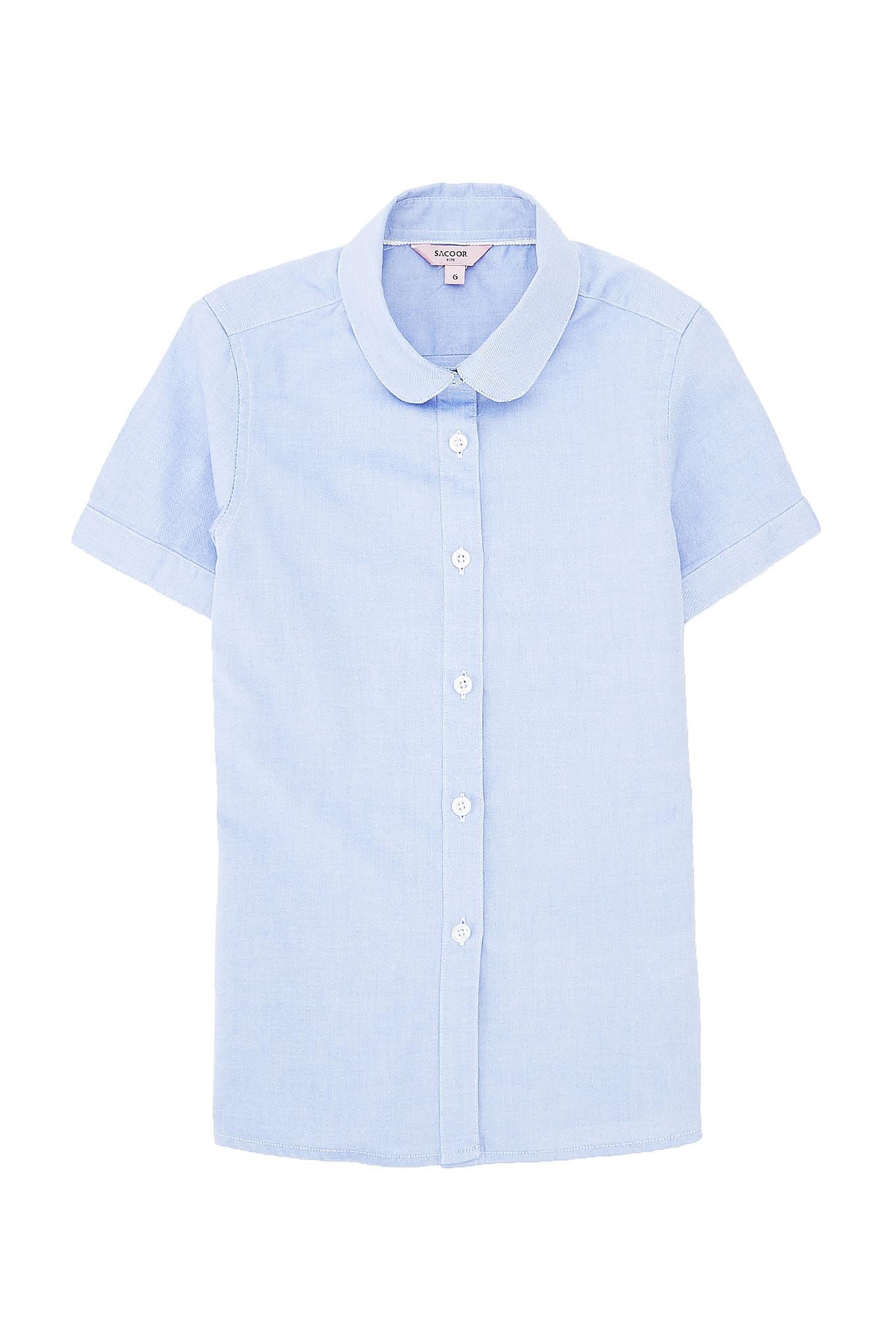 Camisa Azul Médio Casual Rapariga