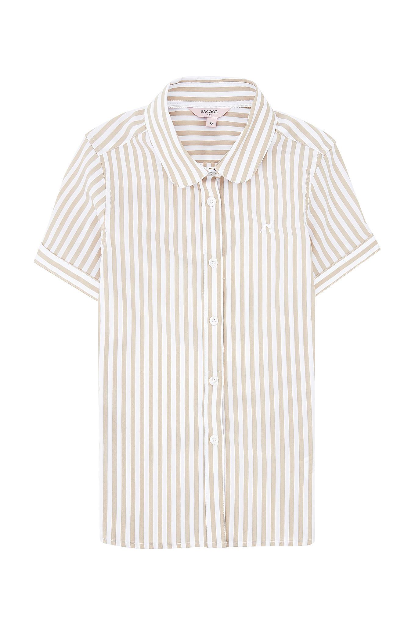 Camisa Riscas Casual Rapariga