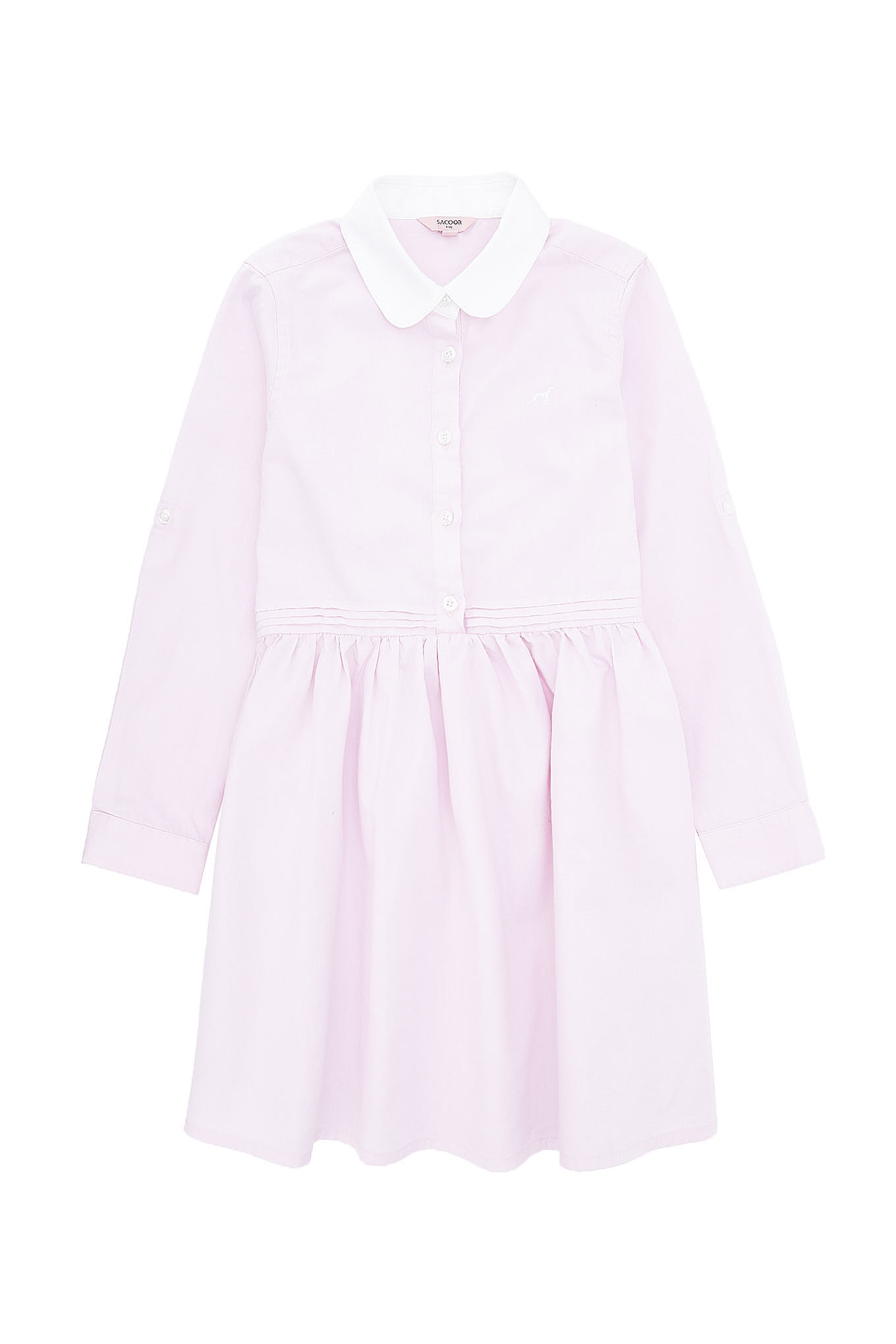 Shirt Dress Light Pink Casual Girl