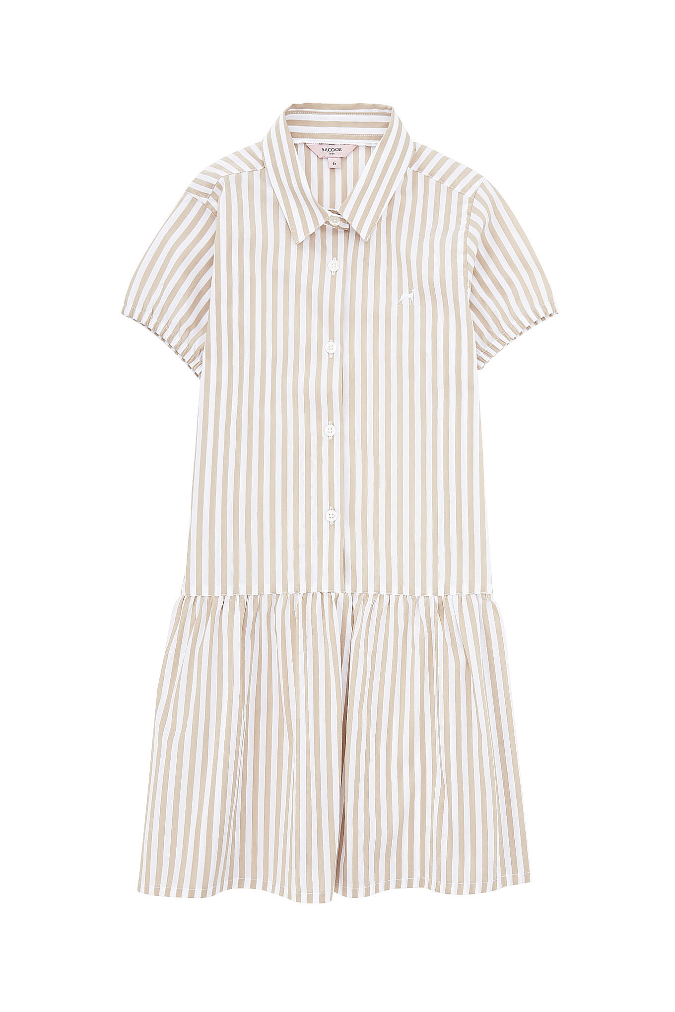 Shirt Dress Stripes Casual Girl
