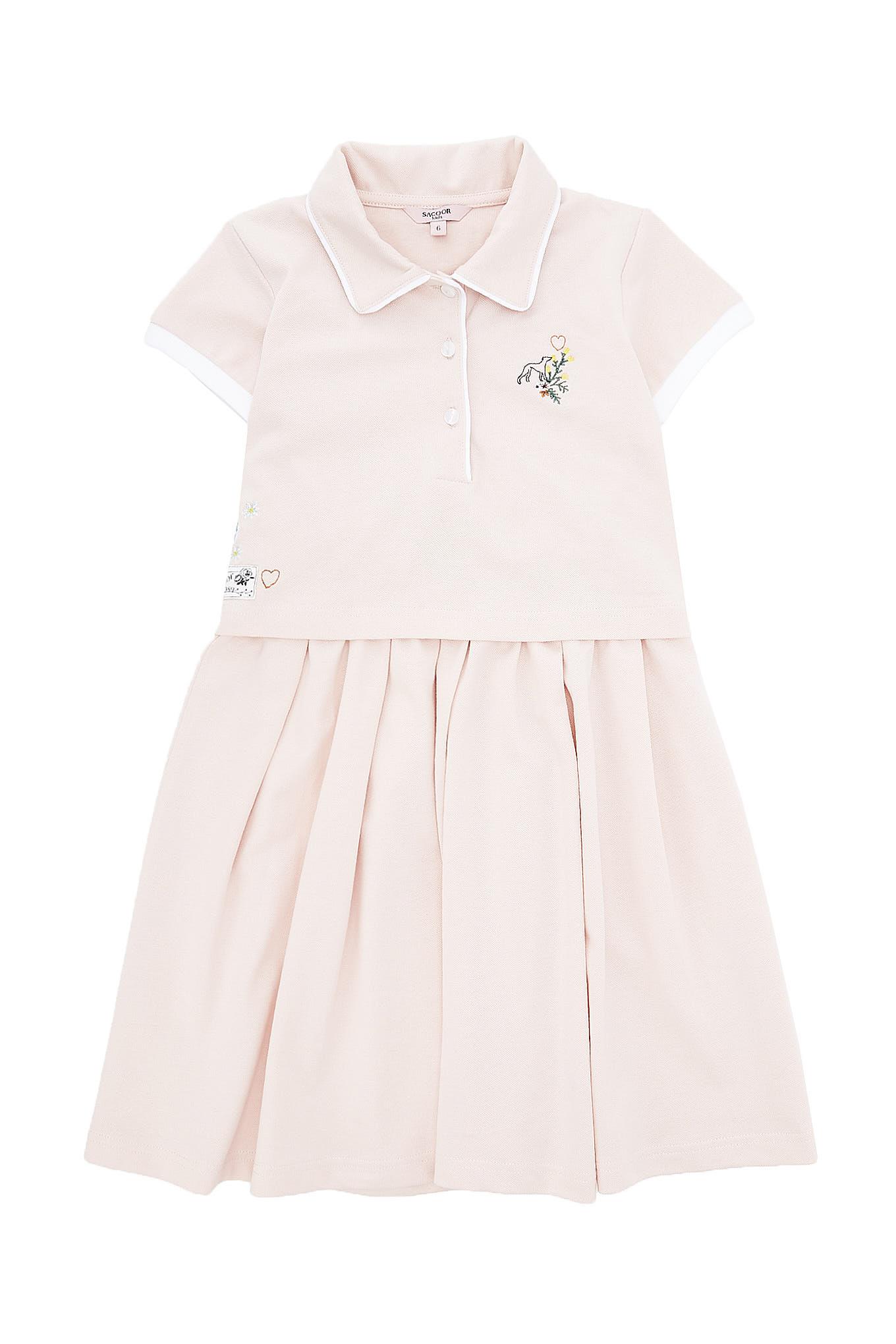 Dress Piquet Pink Sport Girl