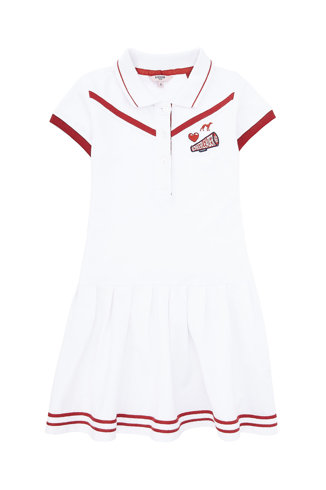Dress Piquet White Sport Girl