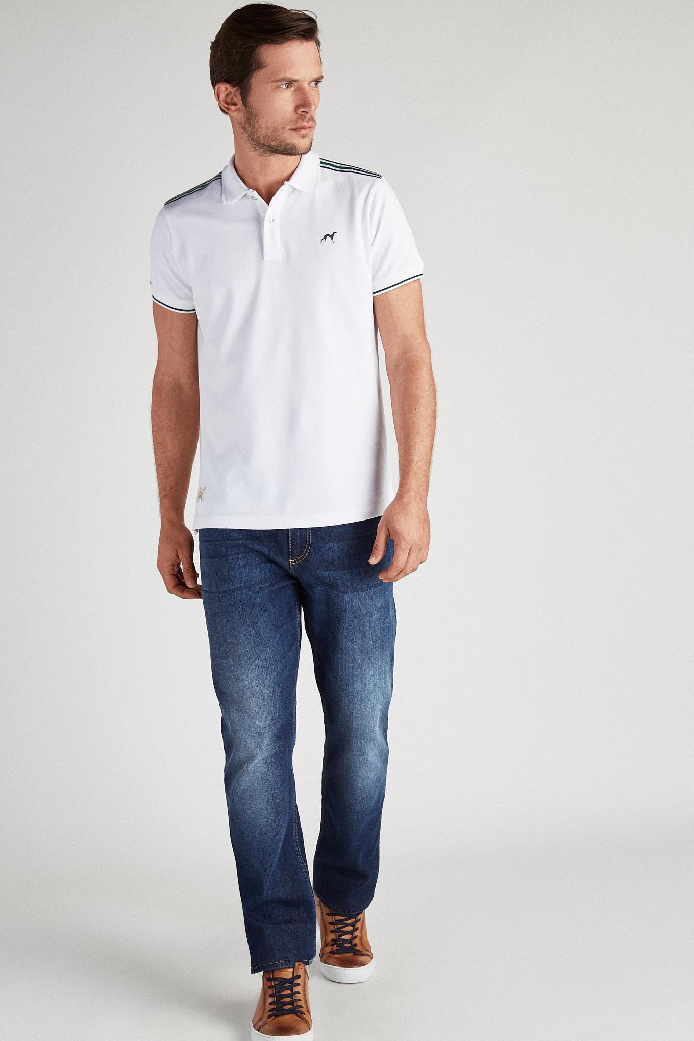 Polo Piquet White Sport Man