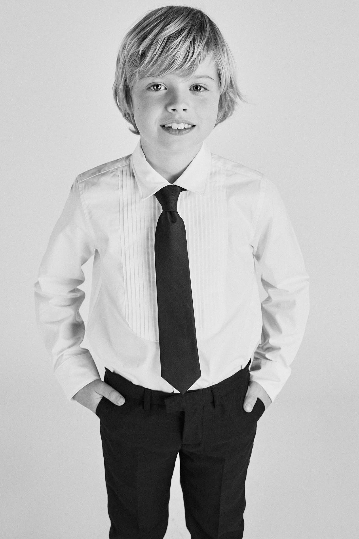 Shirt White Classic Boy