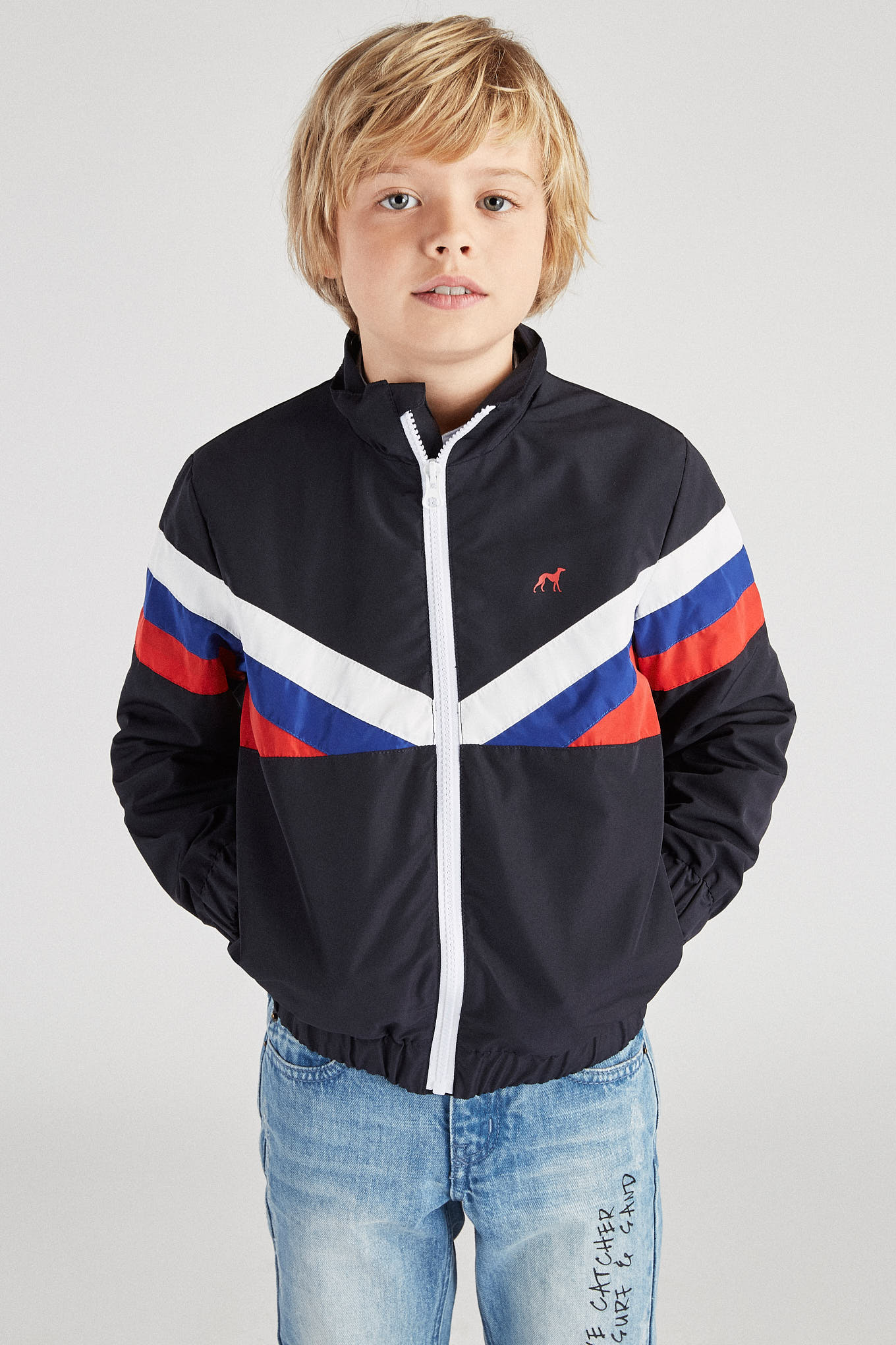 Jacket Dark Blue Casual Boy