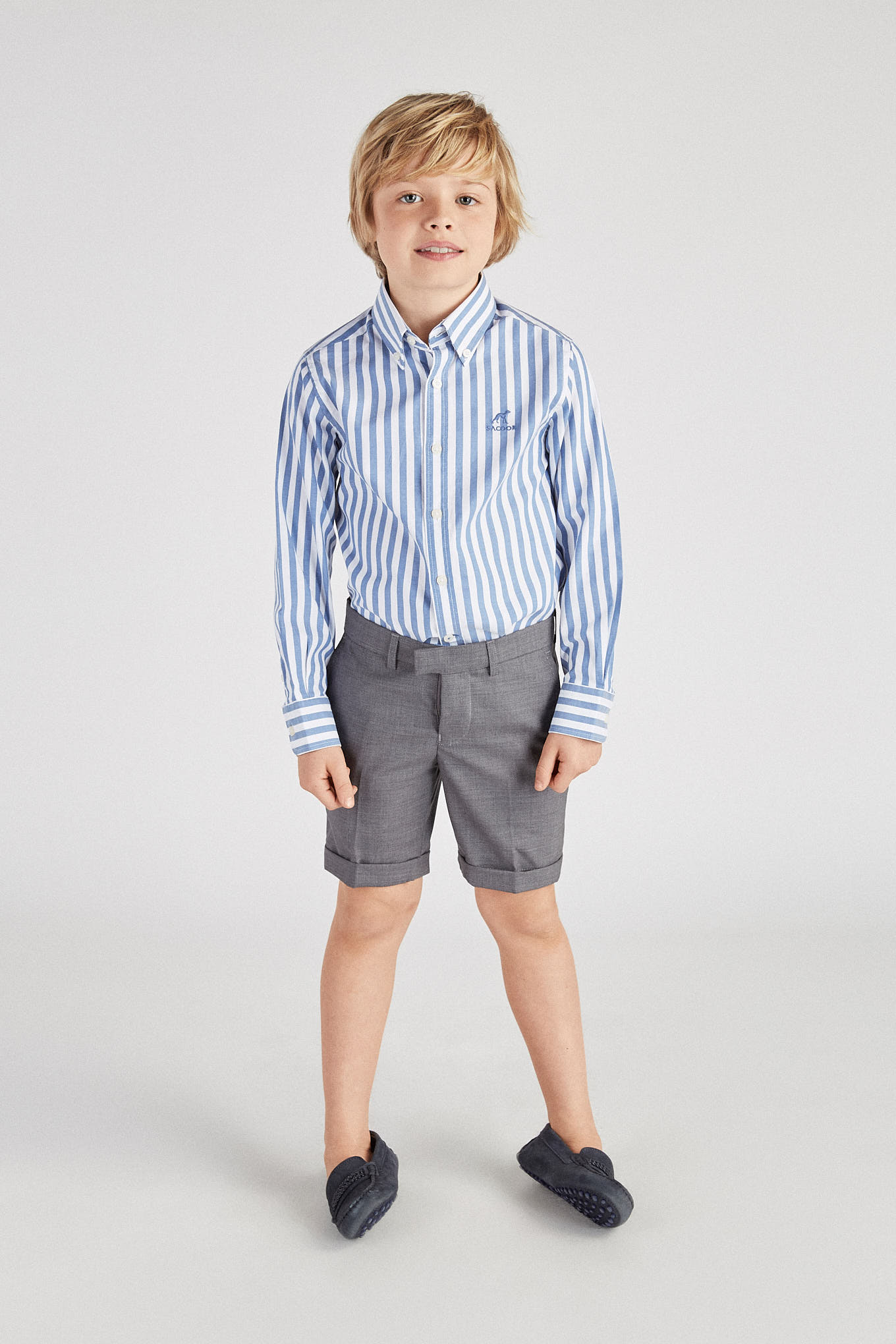 Bermuda Medium Grey Classic Boy