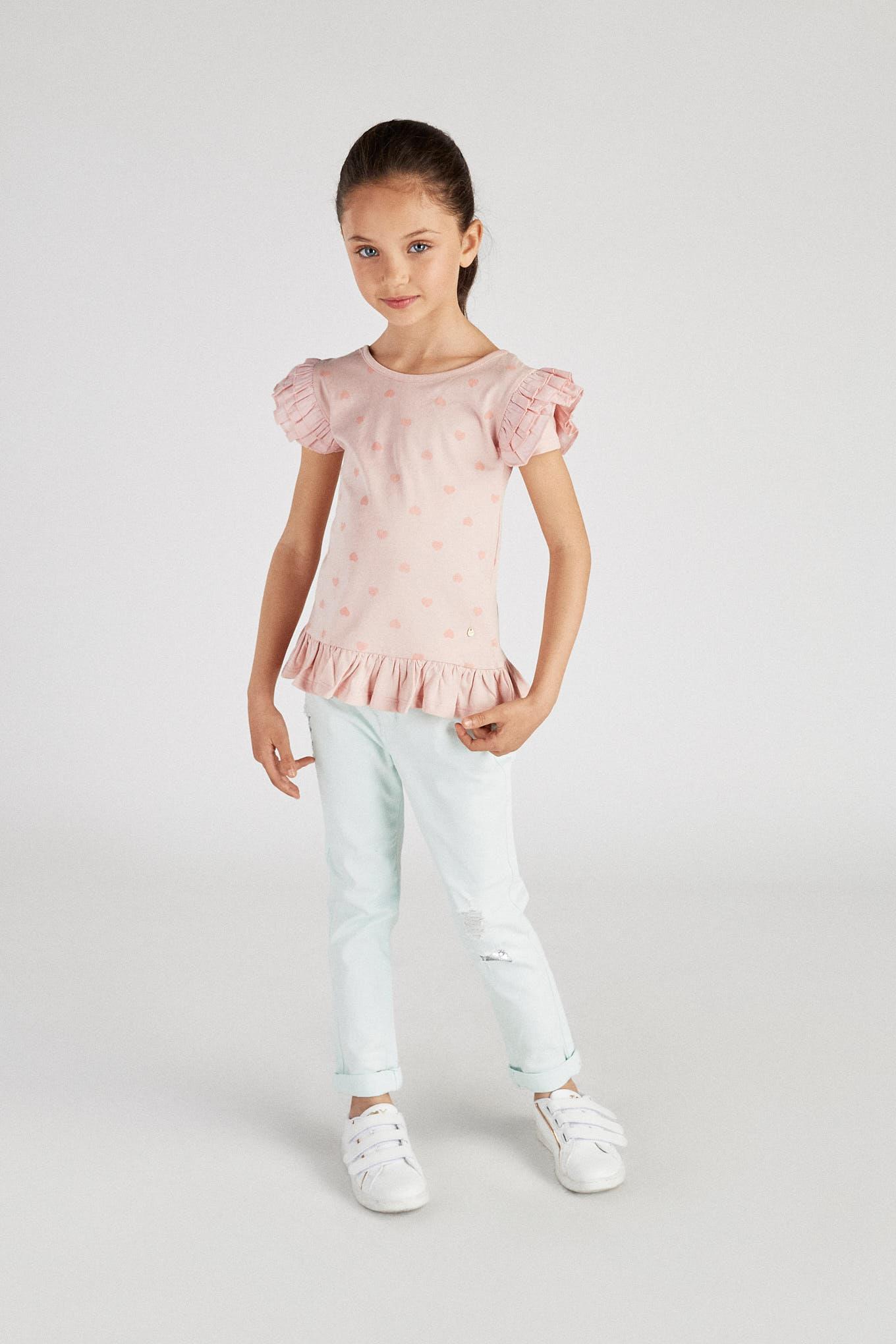 T-Shirt Rosa Sport Rapariga