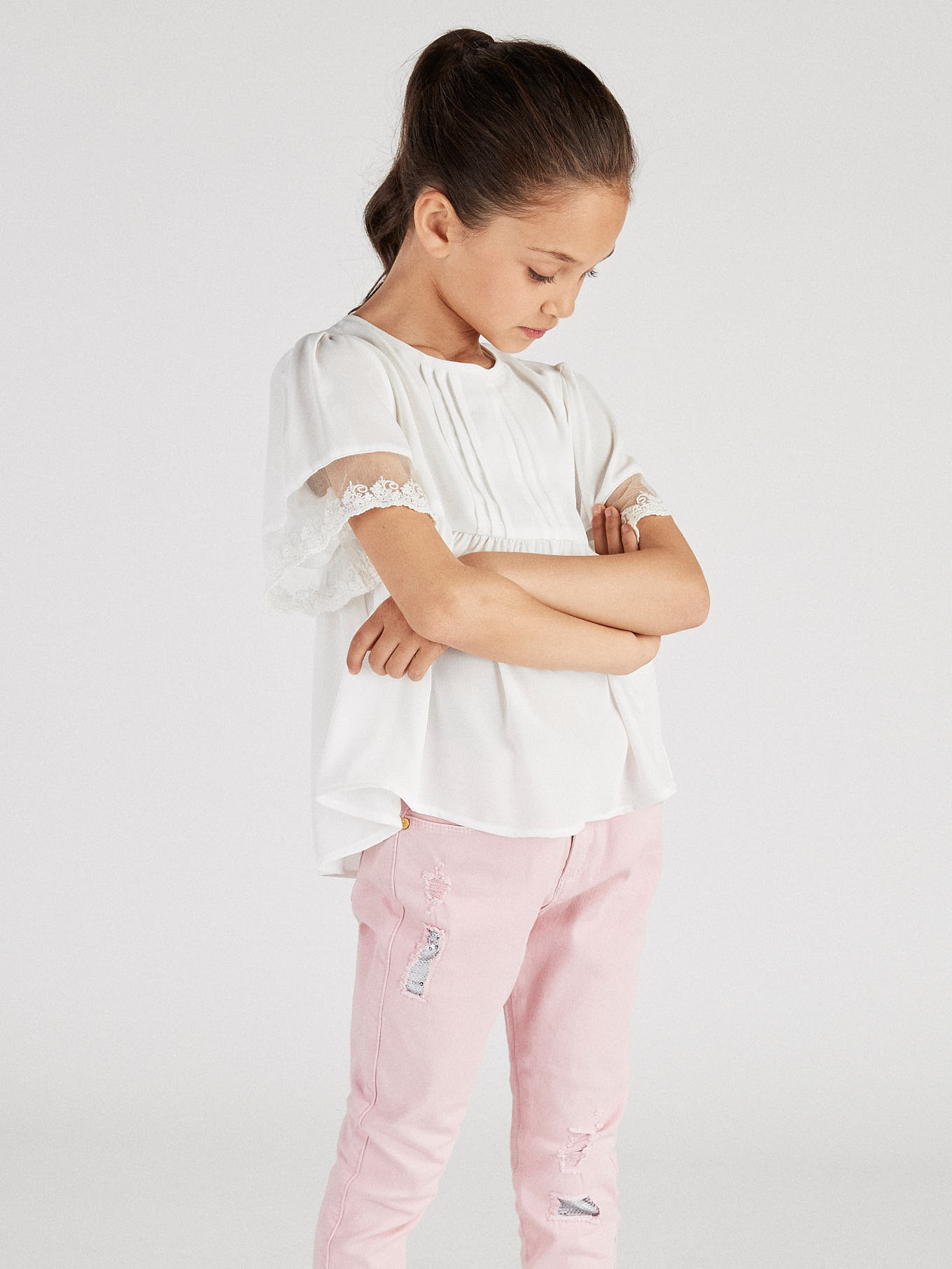 Five Pocket Trousers Pink Sport Girl