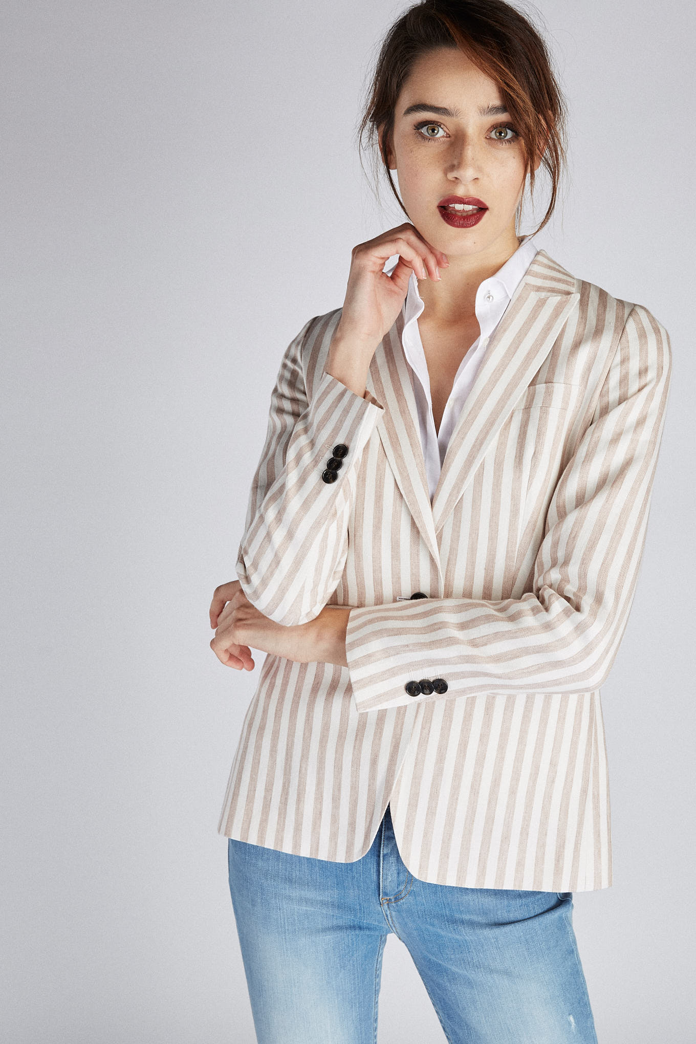Blazer Stripes Classic Woman