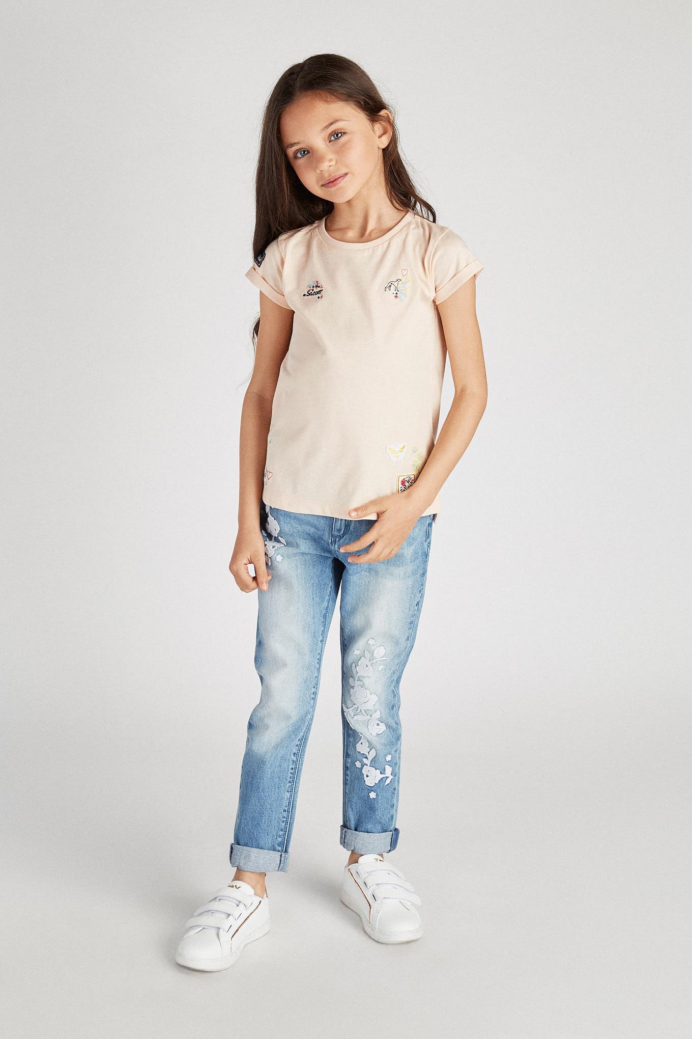 T-Shirt Light Orange Sport Girl