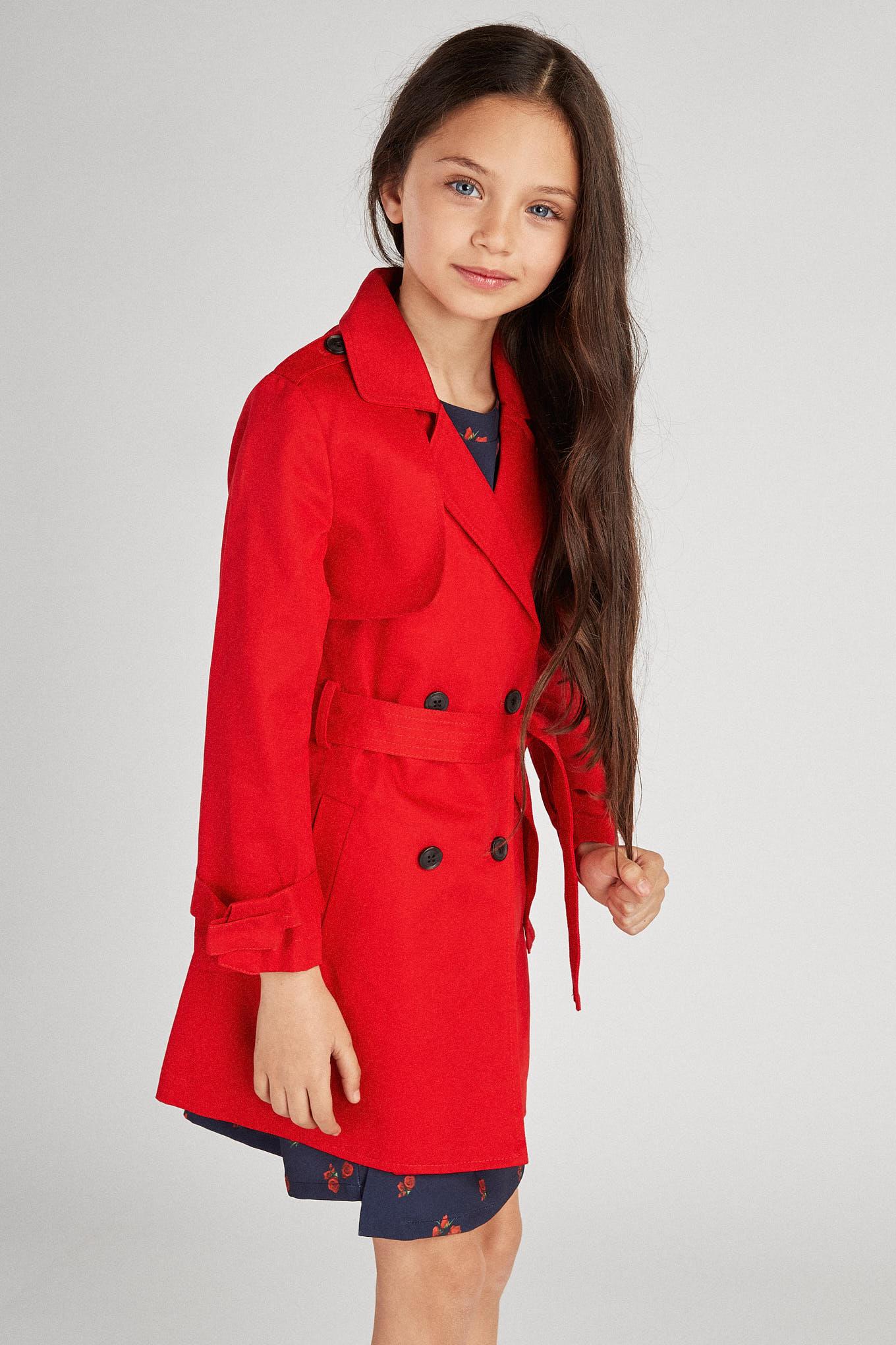 Raincoat Red Sport Girl