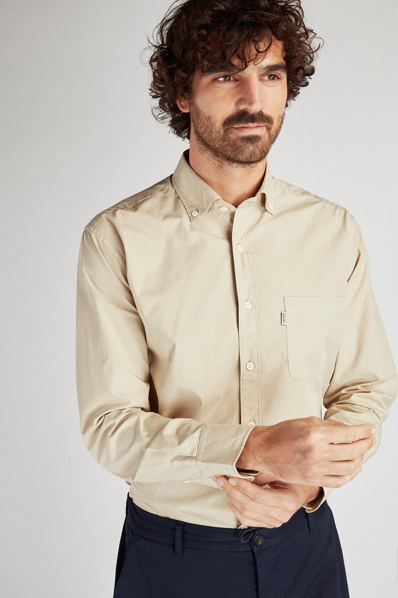 Shirt Beige Sport Man