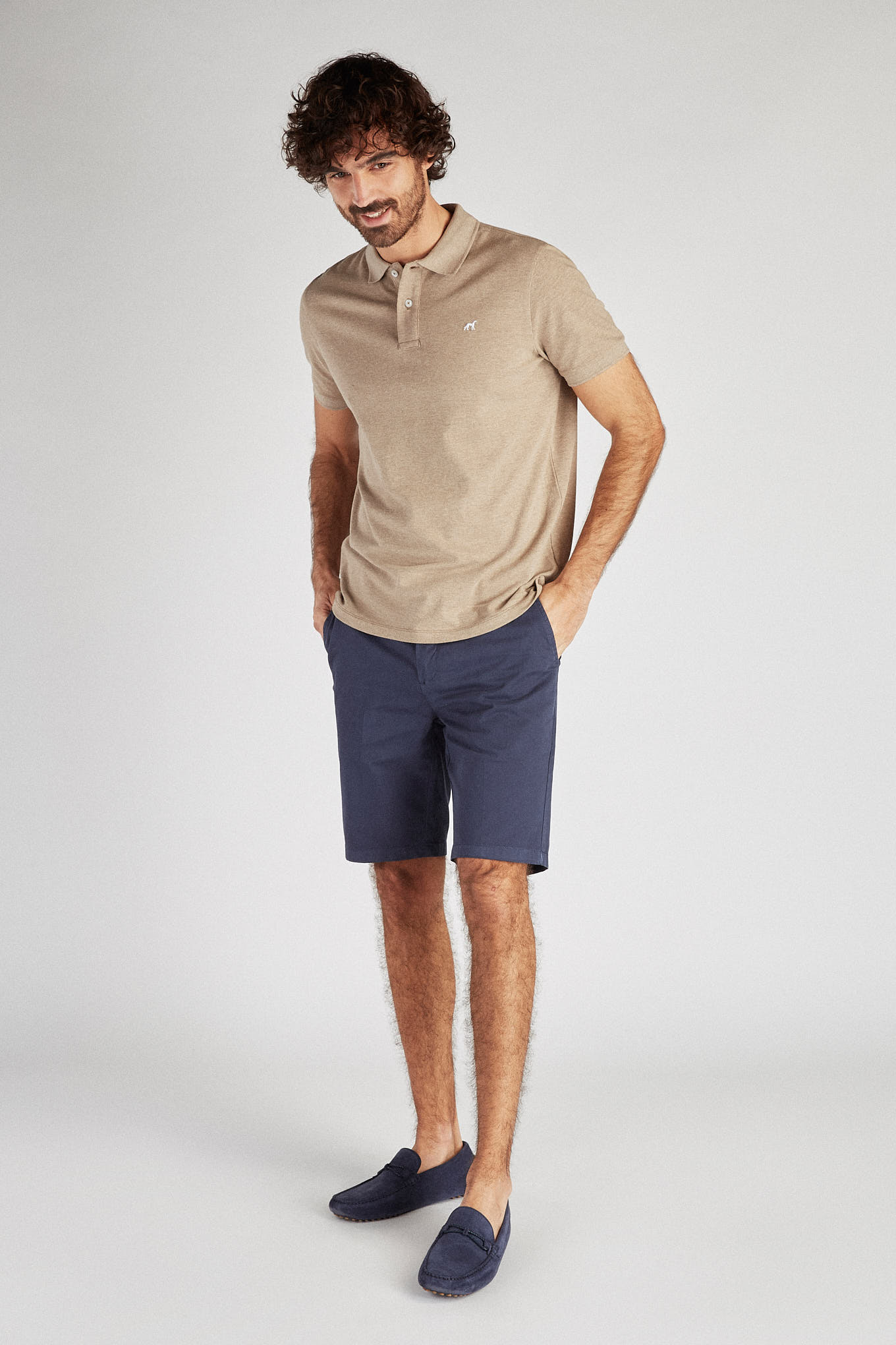 Bermuda Medium Blue Casual Man