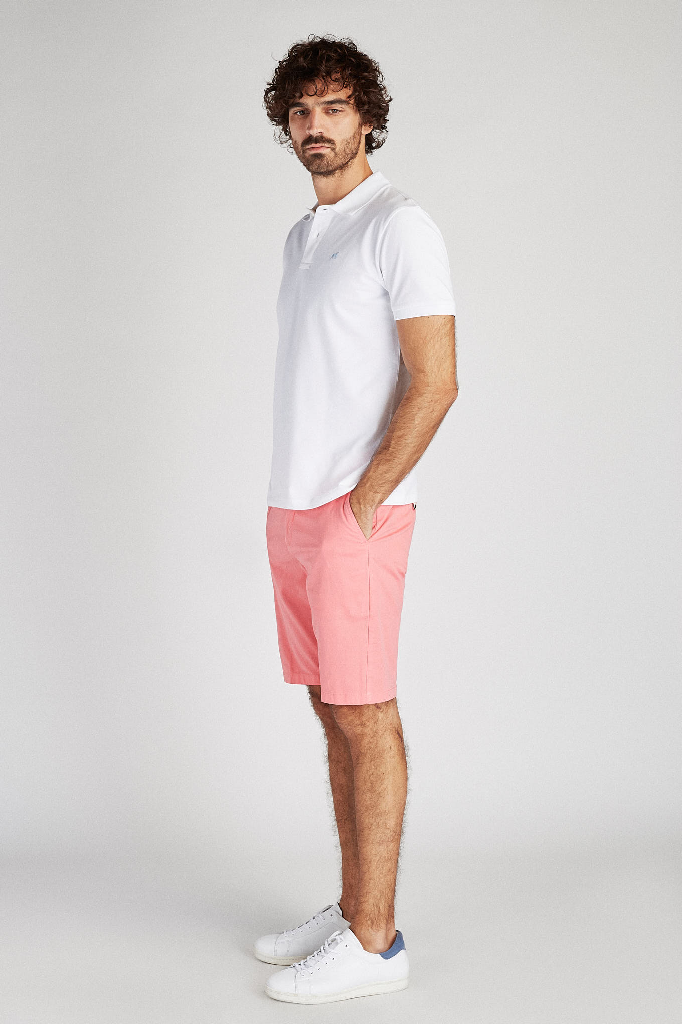 Bermuda Rosa Casual Homem