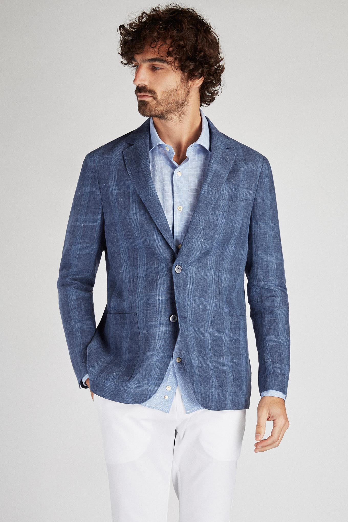 Blazer Azul Médio Classic Homem