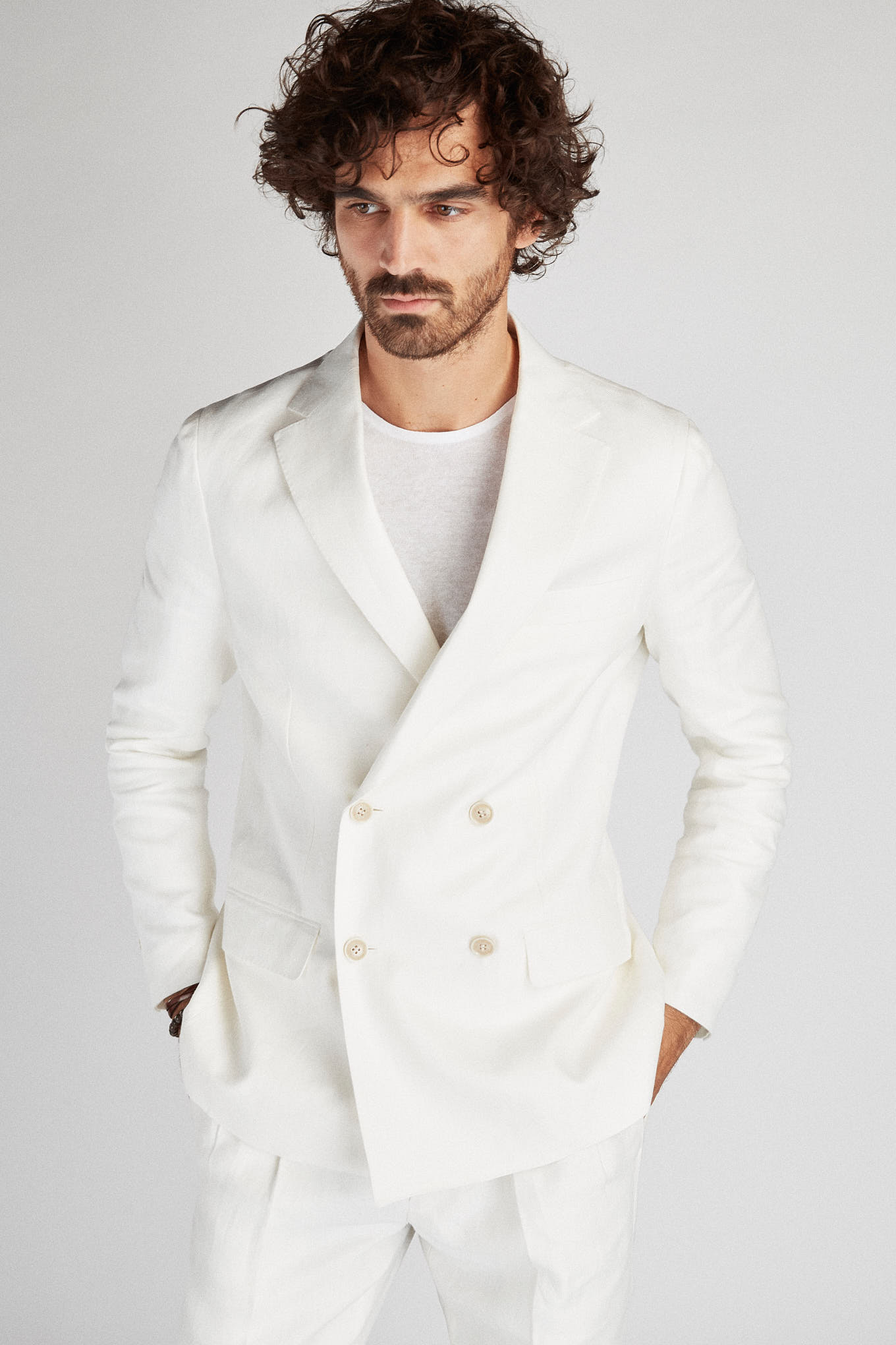 Blazer Branco Classic Homem