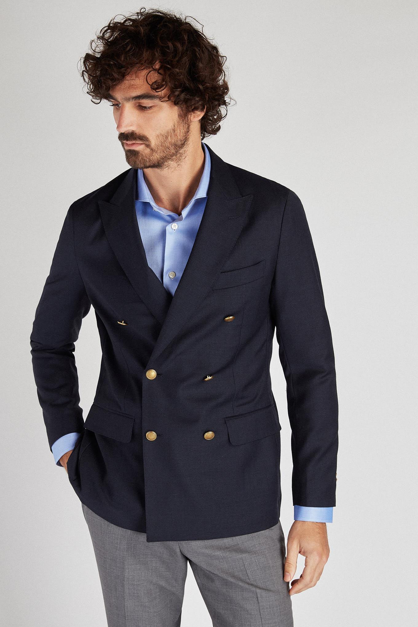 Blazer Dark Blue Classic Man