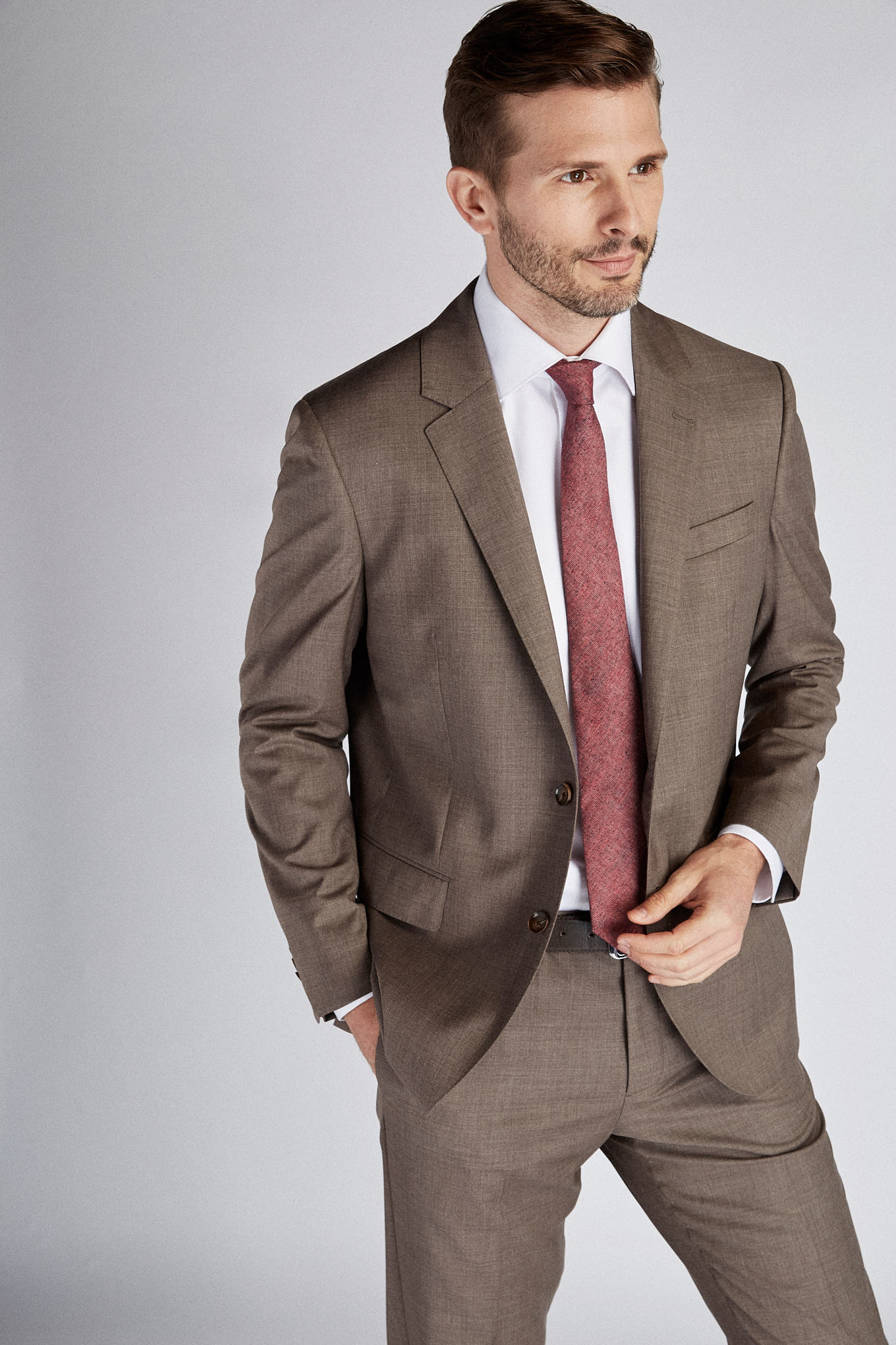 Suit Brown Classic Man