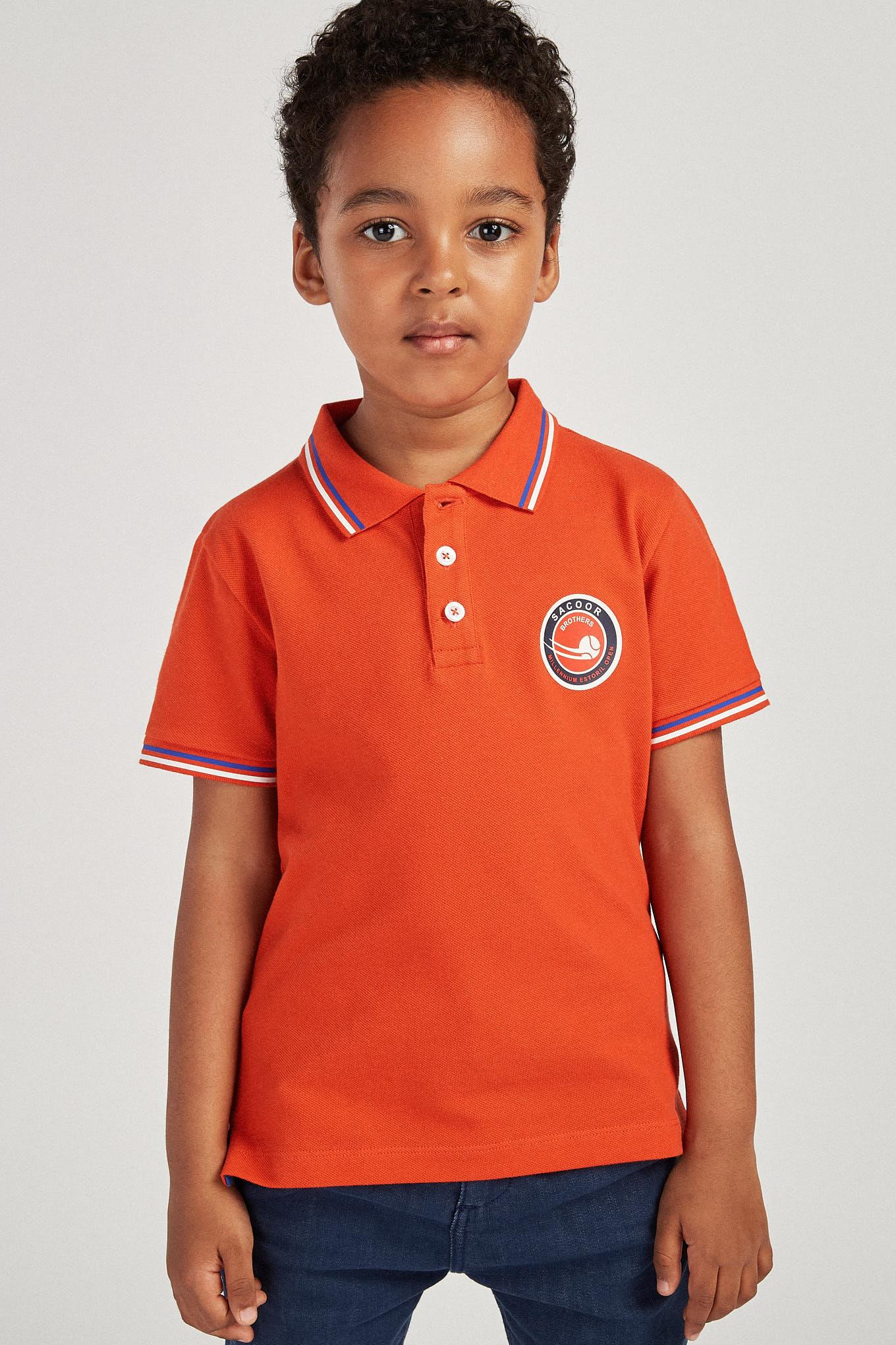 Polo Piquet Orange Sport Boy