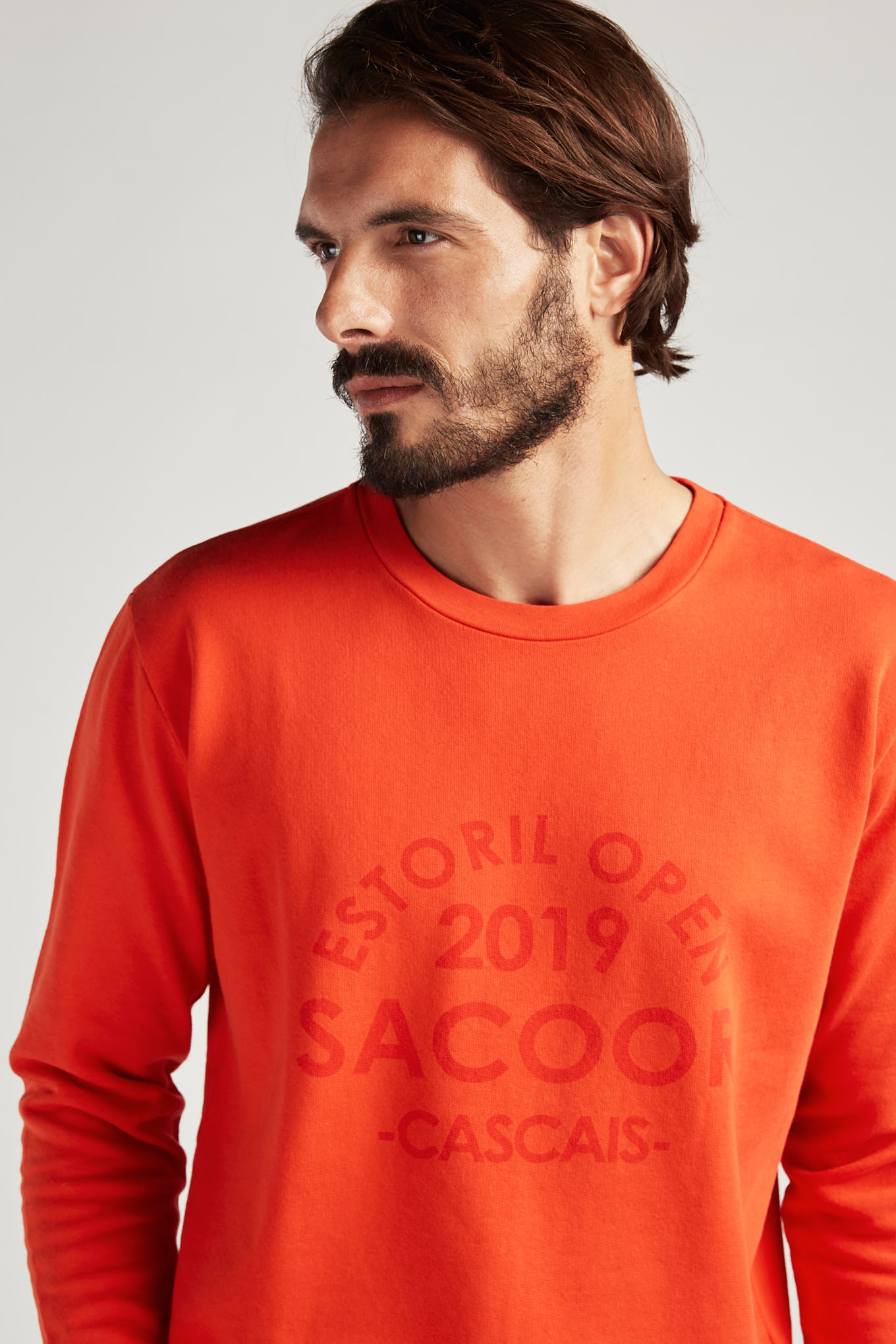 Sweatshirt Orange Sport Man