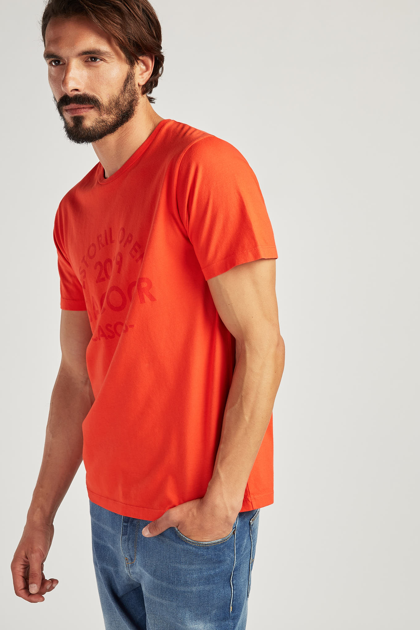 T-Shirt Orange Sport Man