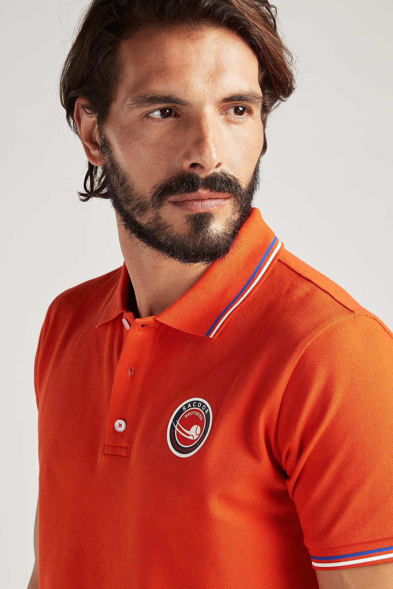 Polo Piquet Orange Sport Man