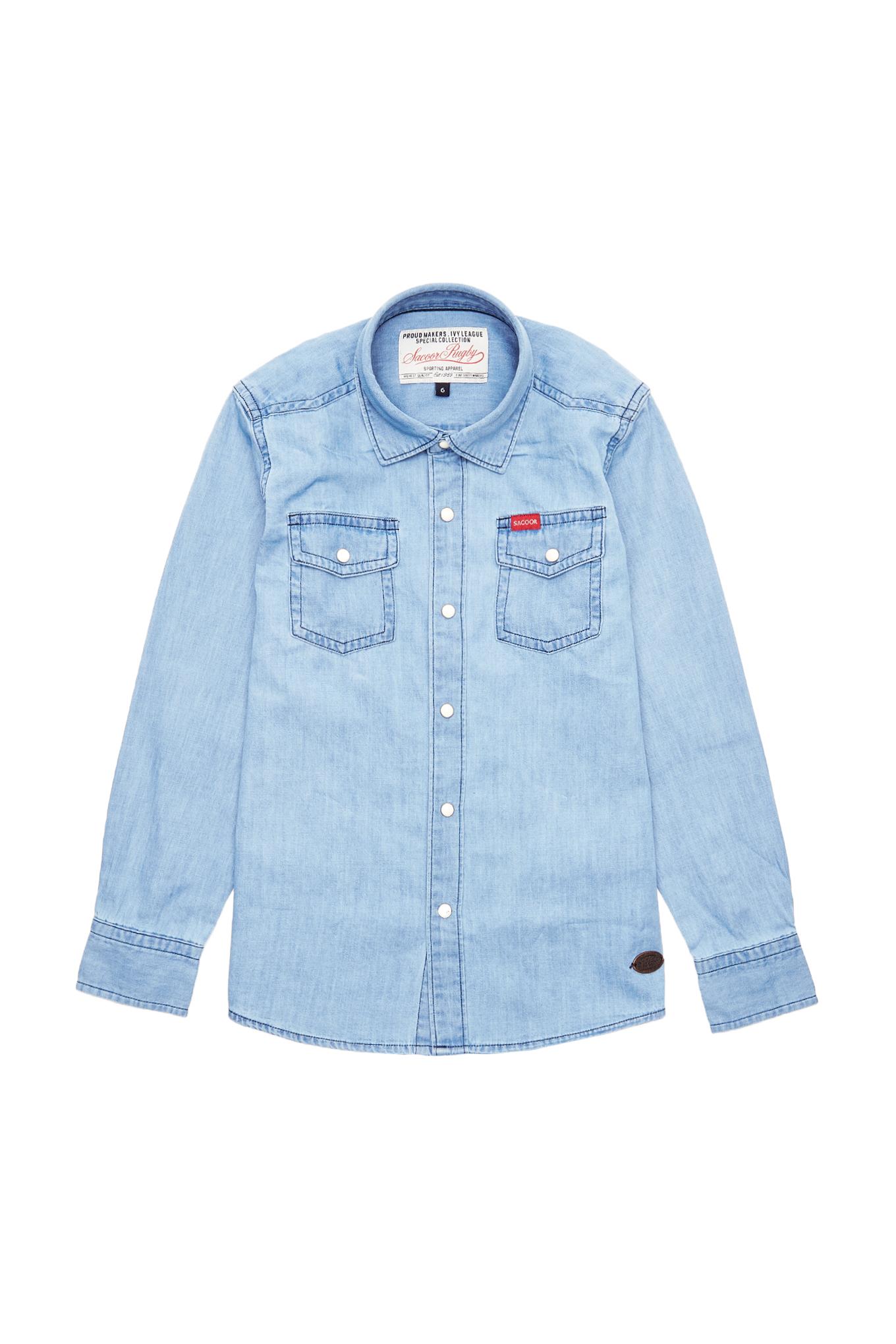 Camisa Azul Claro Sport Rapaz