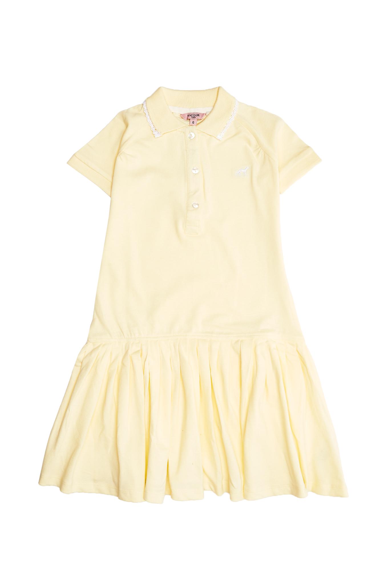 Dress Piquet Light Yellow Sport Girl