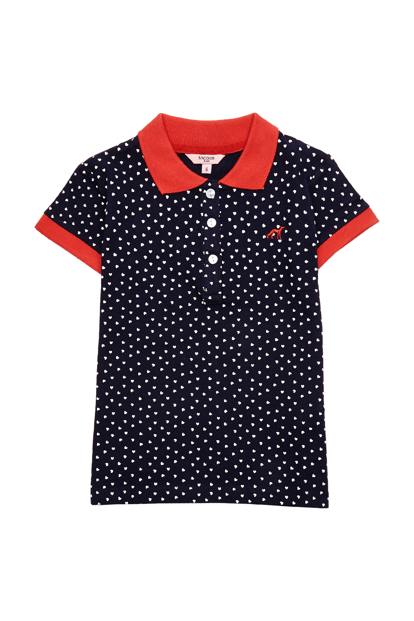 Polo Piquet Dark Blue Sport Girl