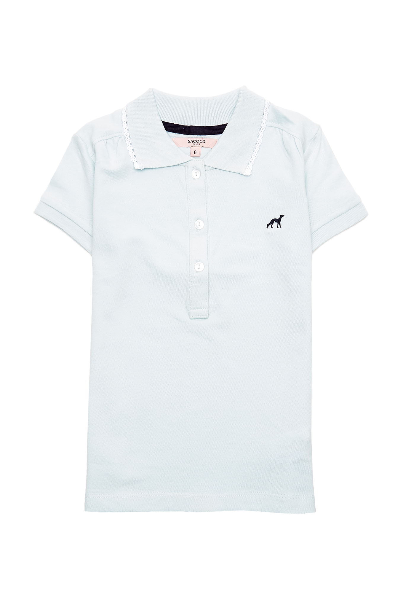 Polo Piquet Light Blue Sport Girl