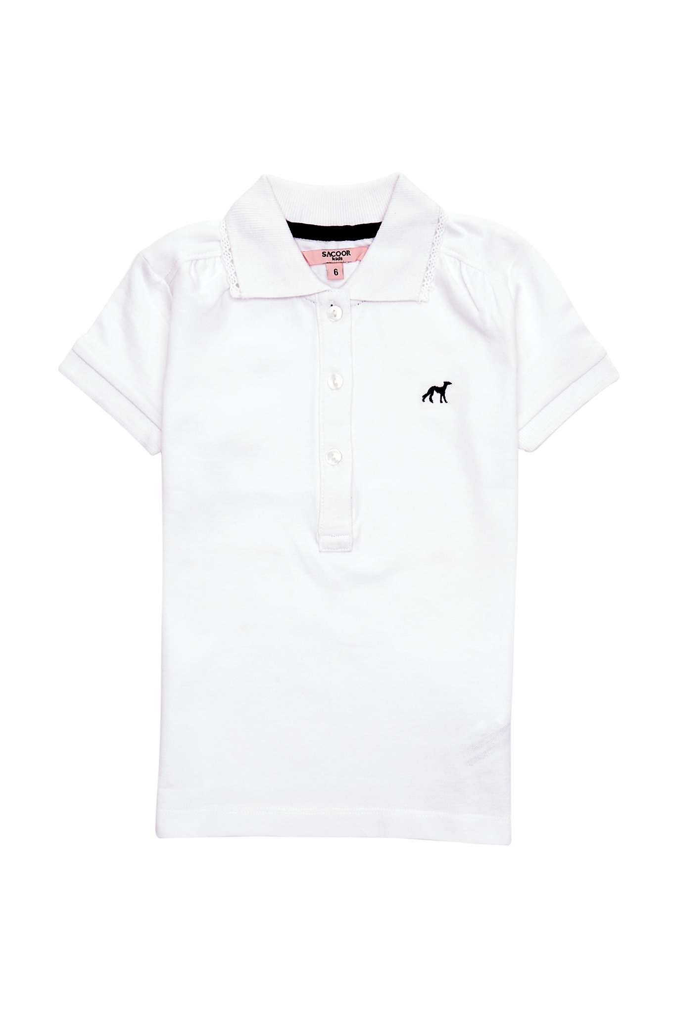 Polo Piquet White Sport Girl