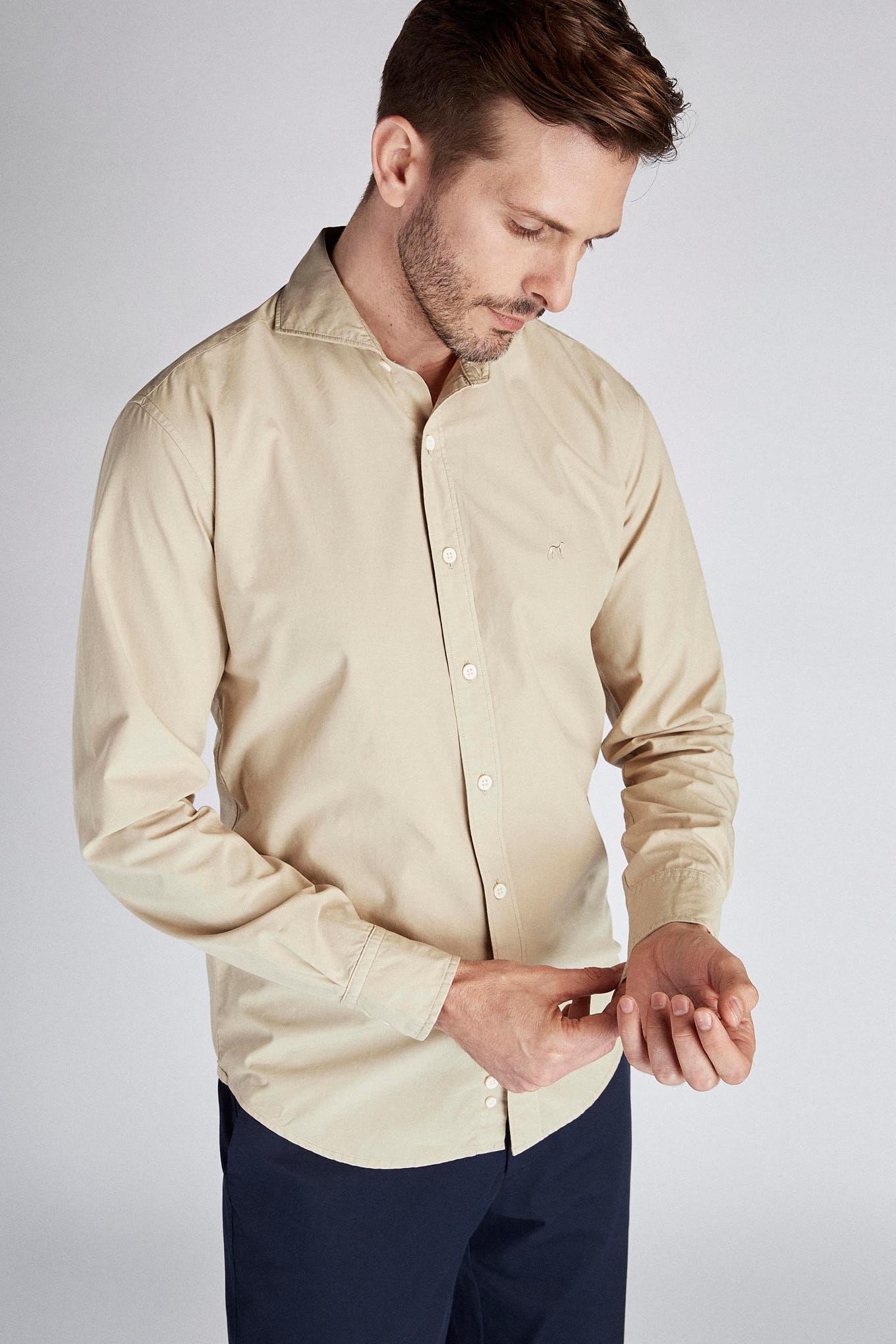 Camisa Beige Sport Homem
