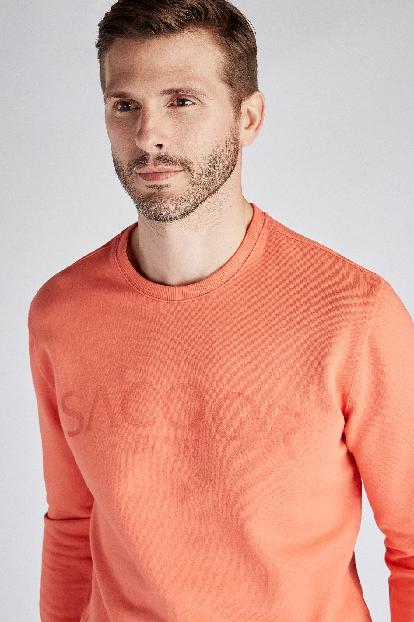 Sweatshirt Salmon Sport Man