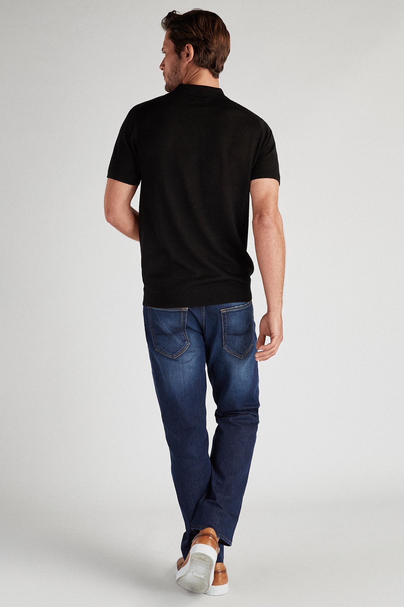 Polo Sweater Black Casual Man
