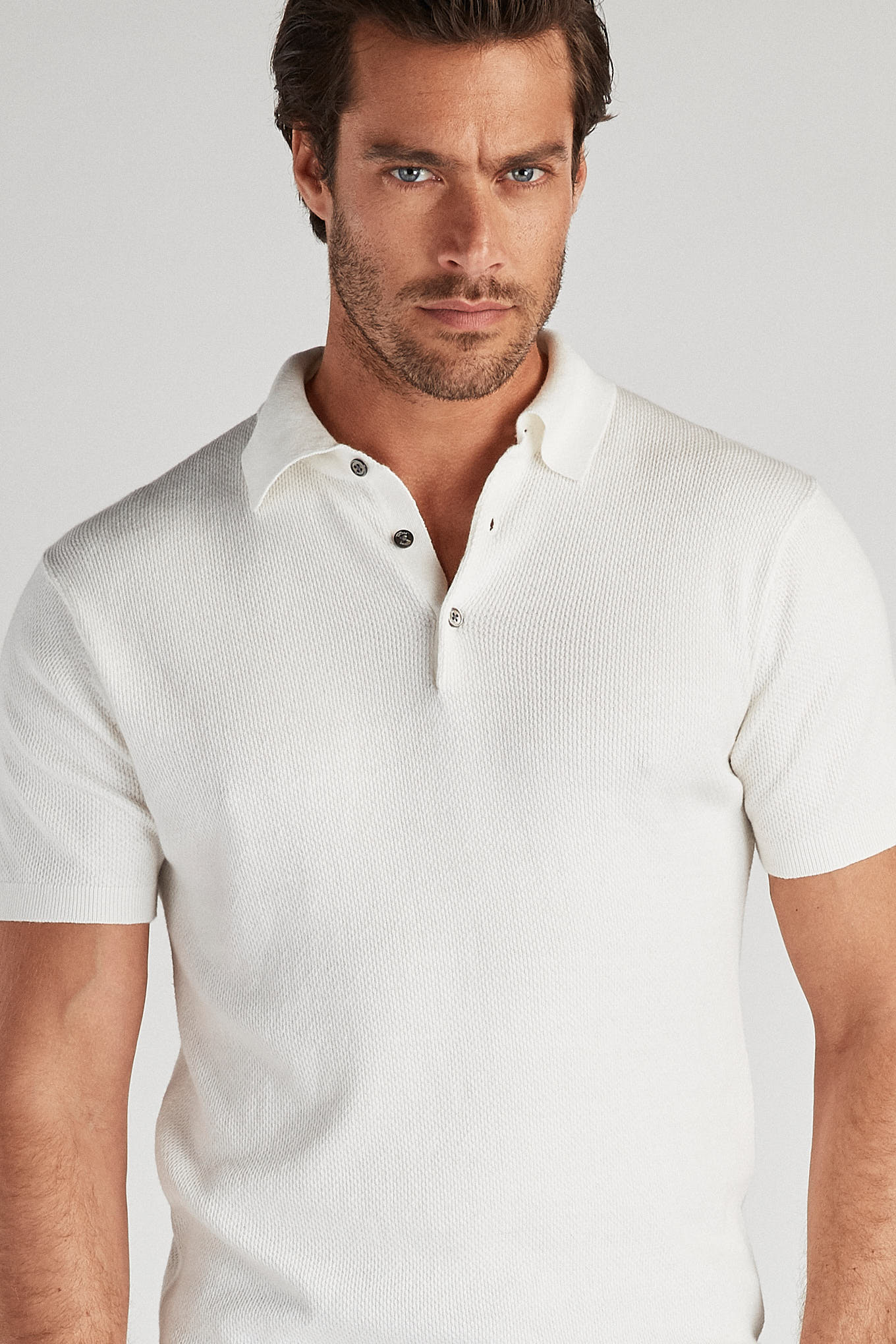Polo Sweater White Casual Man