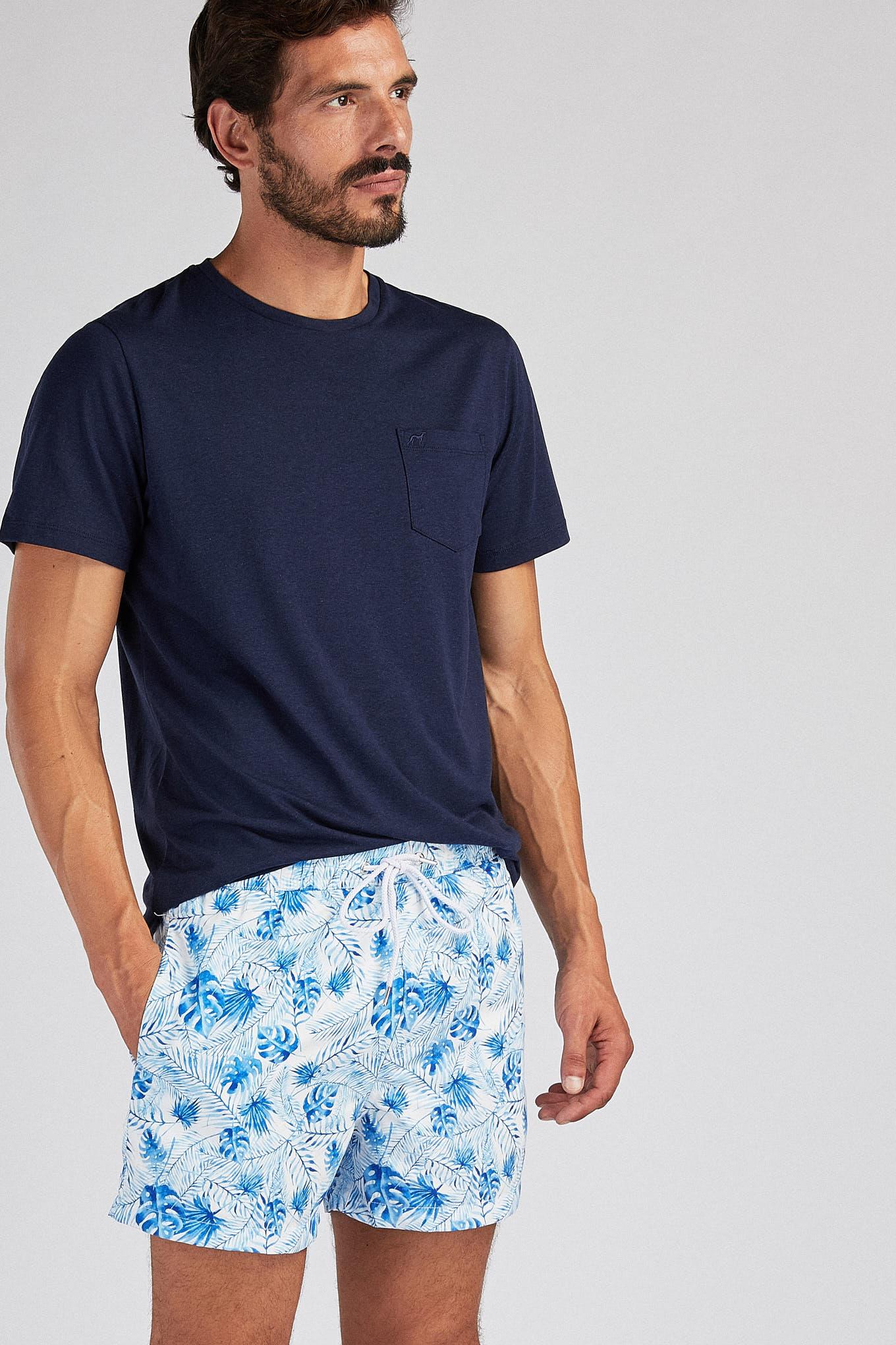 Calções de Banho Azul Sport Homem