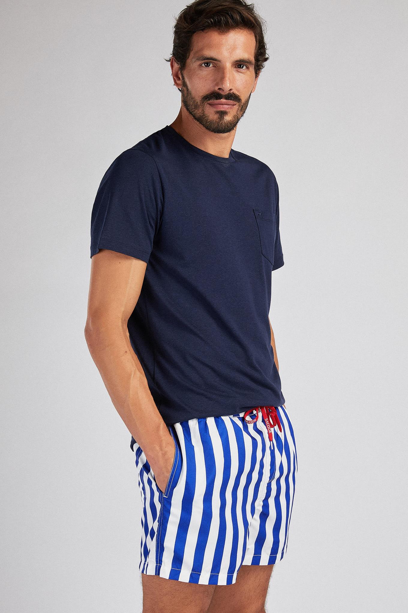 Beachwear Shorts Blue Sport Man