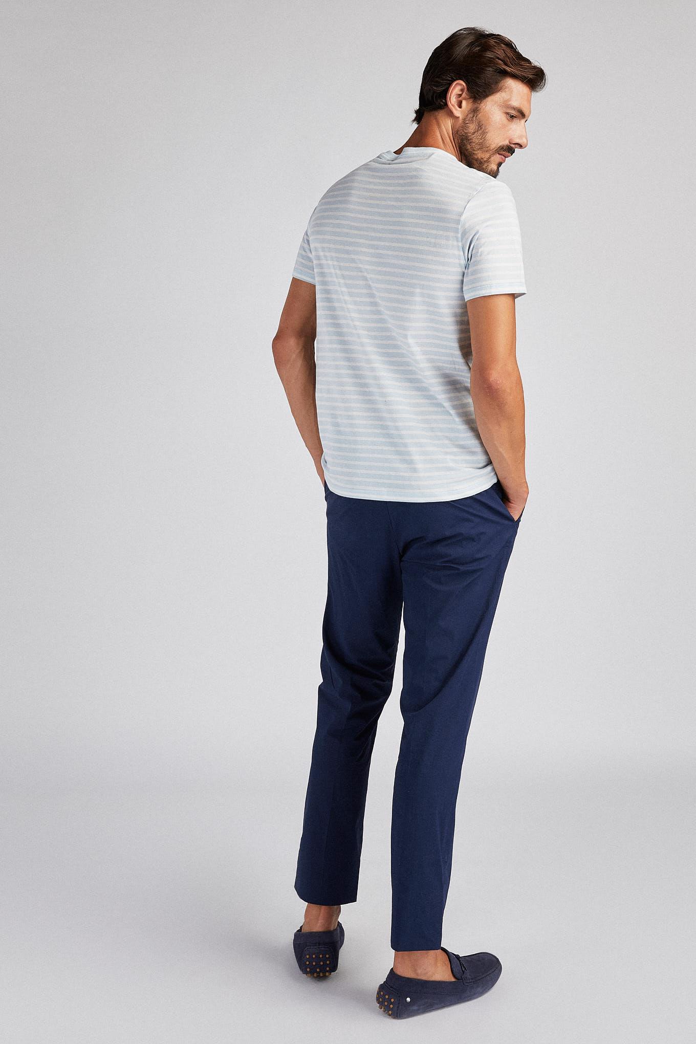 T-Shirt Azul Claro Sport Homem