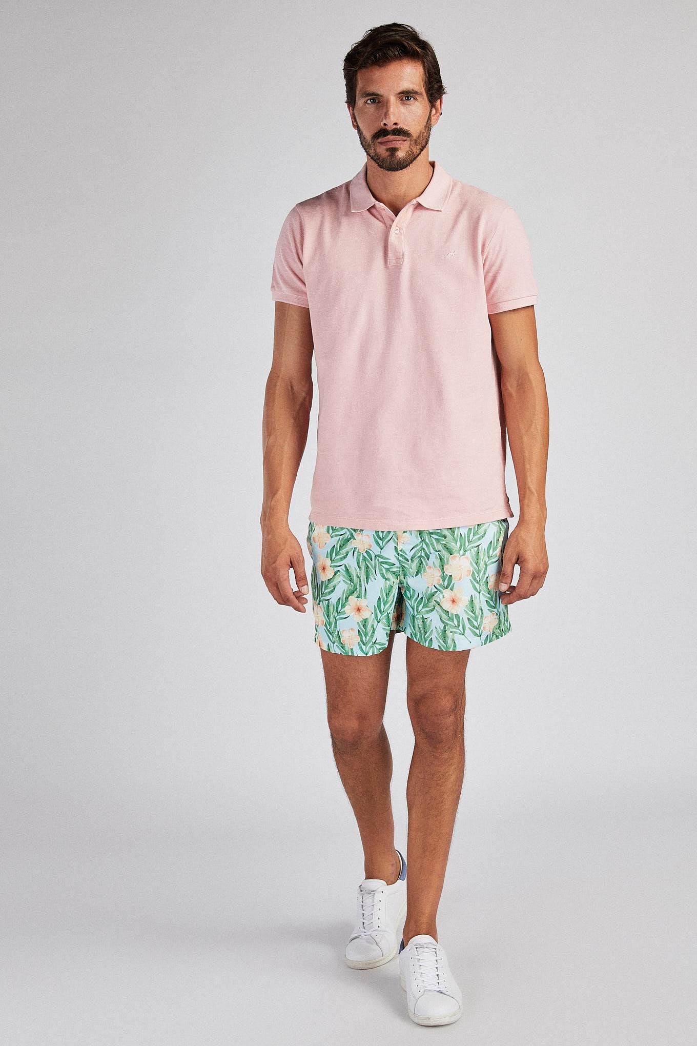 Beachwear Shorts Green Sport Man
