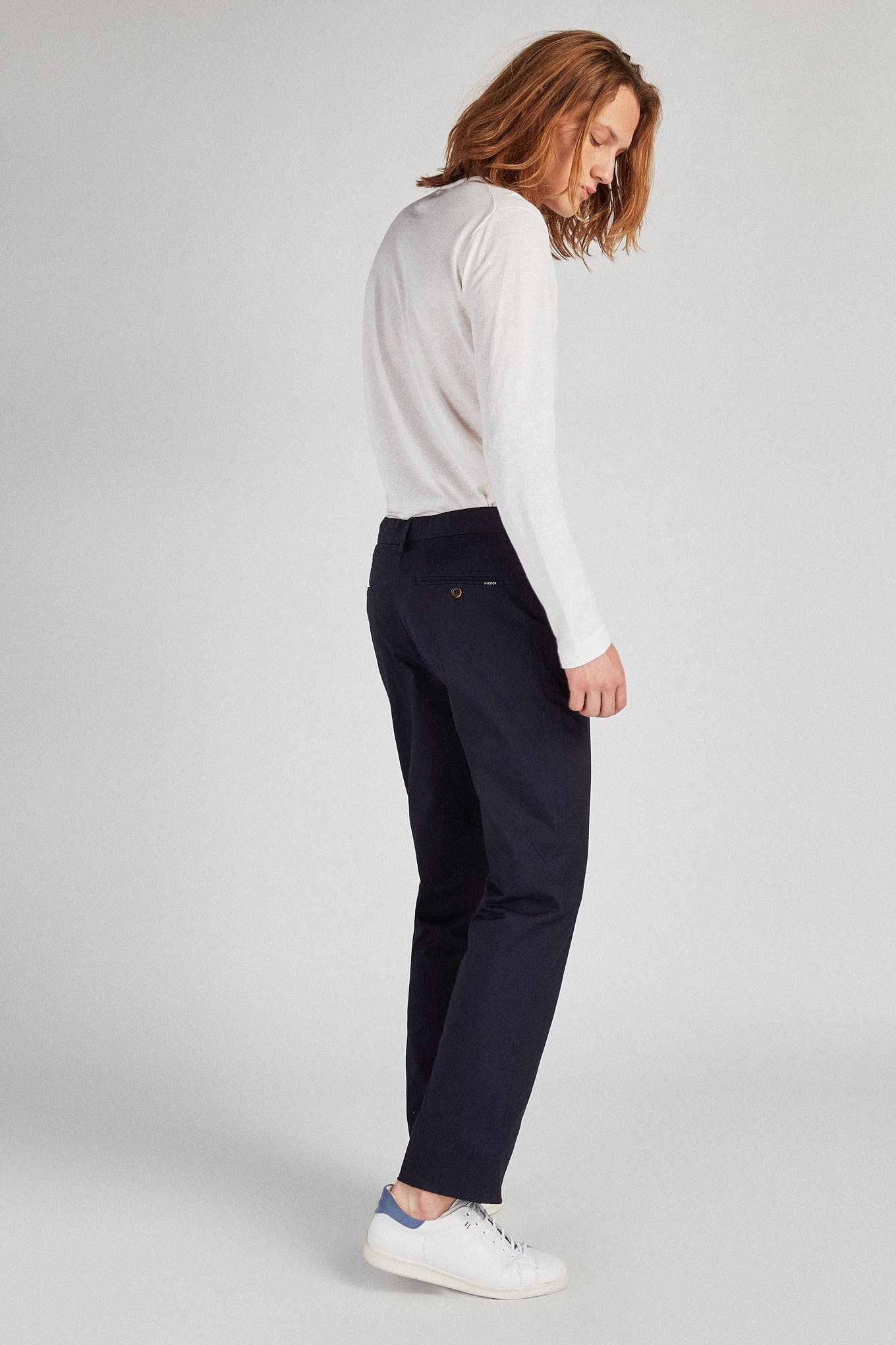 Chino Trousers Dark Blue Sport Man
