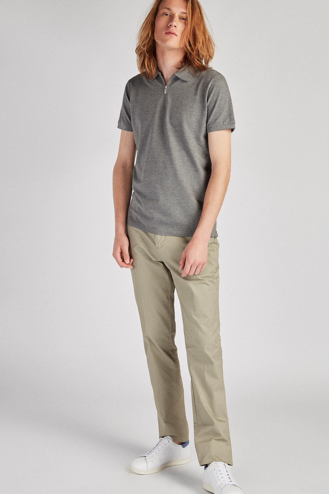Chino Trousers Khaki Sport Man