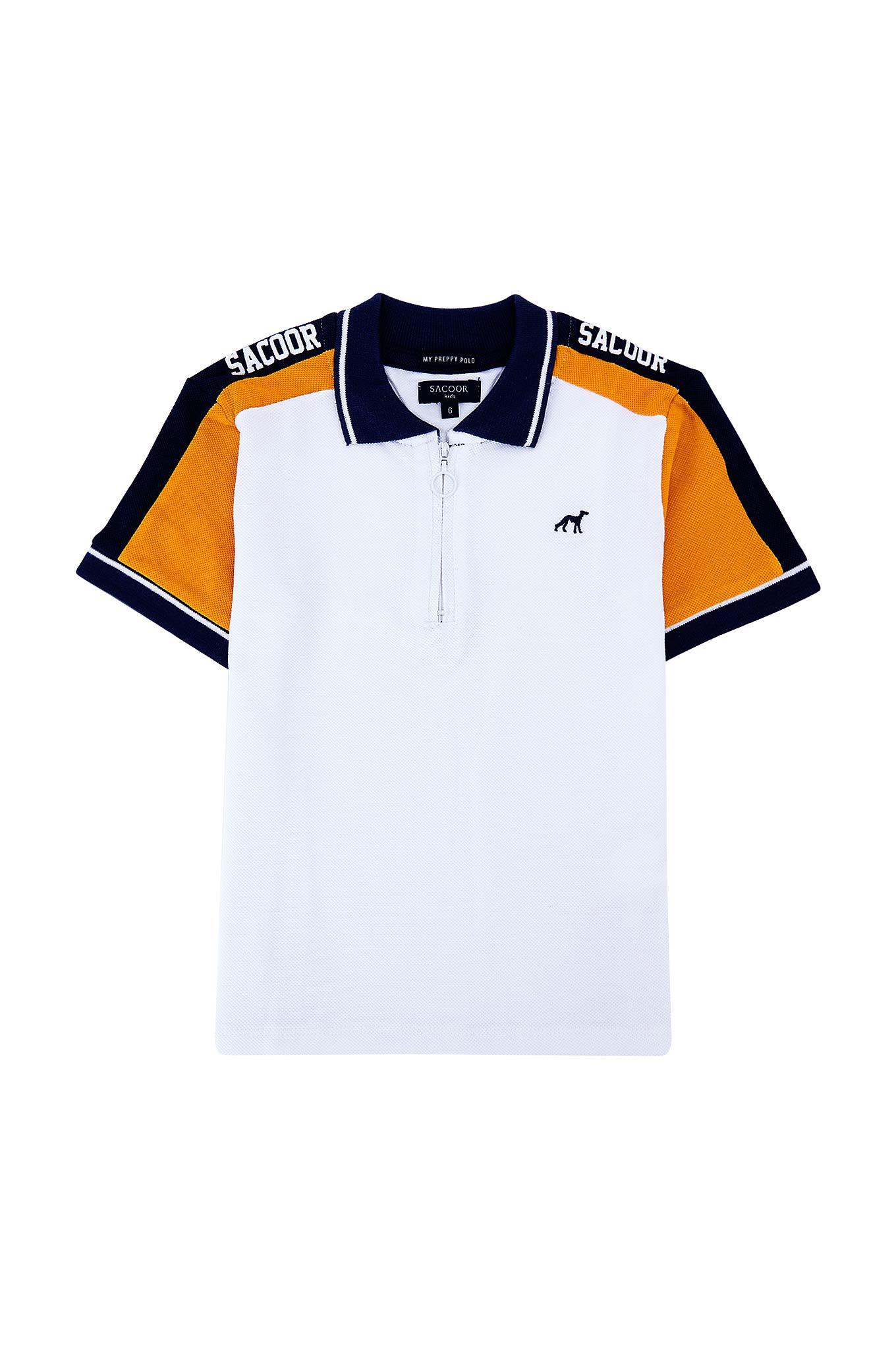 Polo Piquet Branco Sport Rapaz