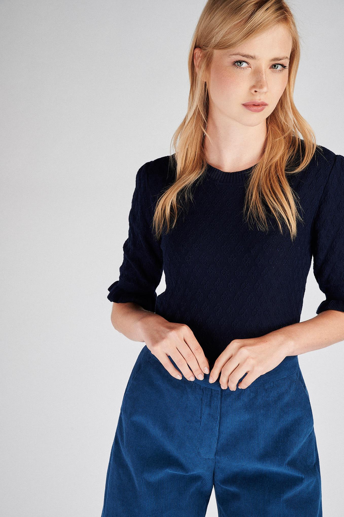Calças Azul Classic Mulher
