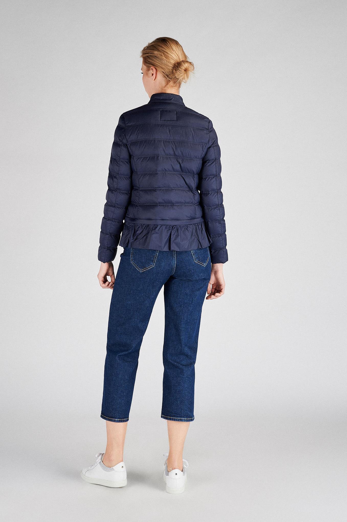 Blusão Azul Escuro Casual Mulher