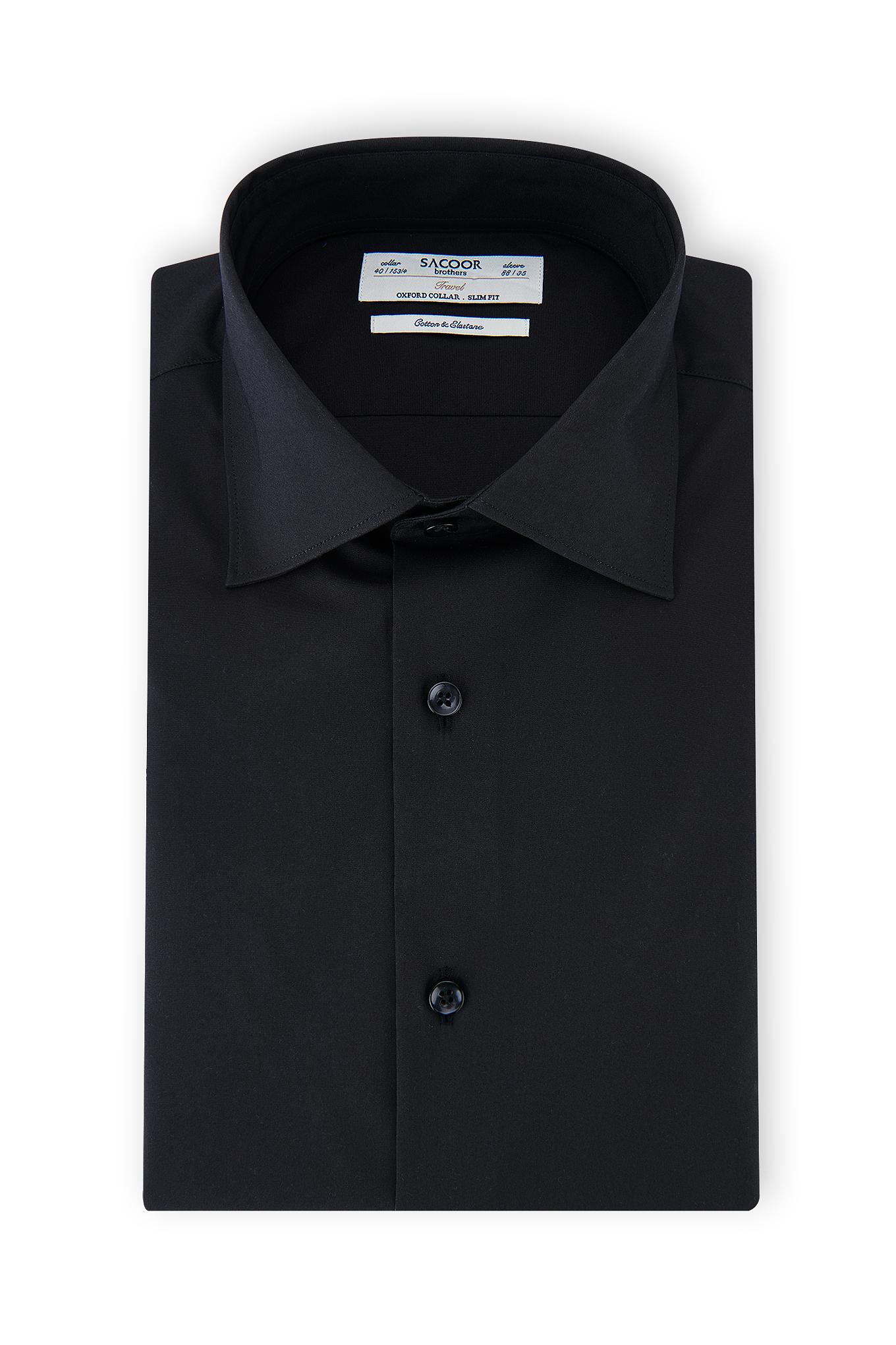 Shirt Black Classic Man